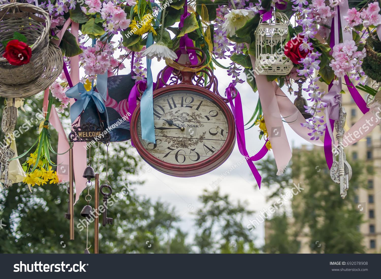 Wedding Decoration Alice Wonderland Style Arc Stock Photo Edit Now