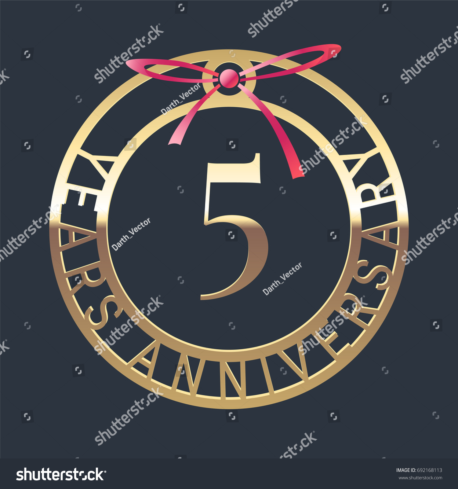 5 years anniversary vector icon symbol stock vector 692168113 5 years anniversary vector icon symbol graphic design element or logo with golden medal biocorpaavc Gallery