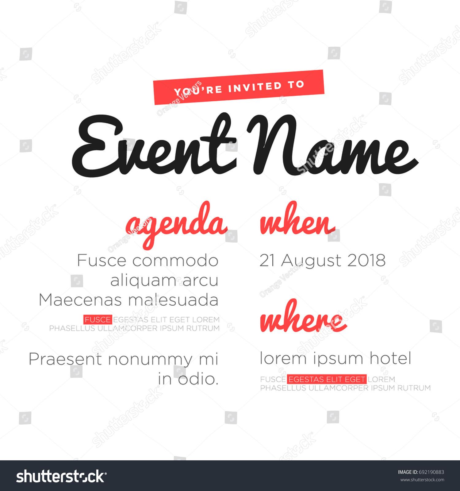 template of agenda