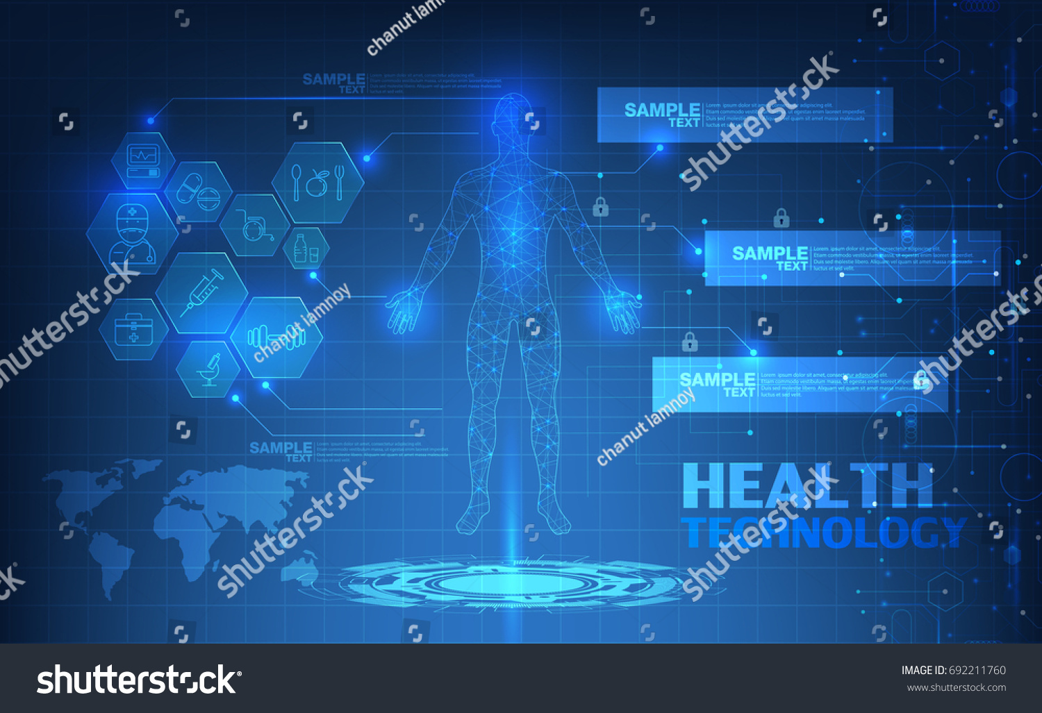 Abstract technological health care science blue stock vector abstract technological health care science blue print scientific interface futuristic backdrop digital malvernweather Choice Image