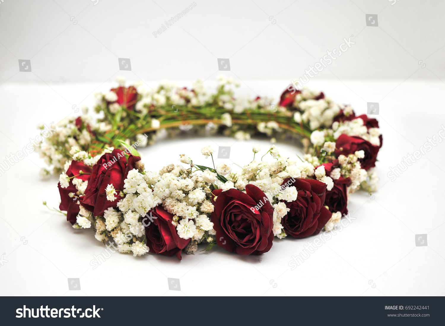 Beautiful Flower Crown Made Roses Babys Stock Photo Edit Now