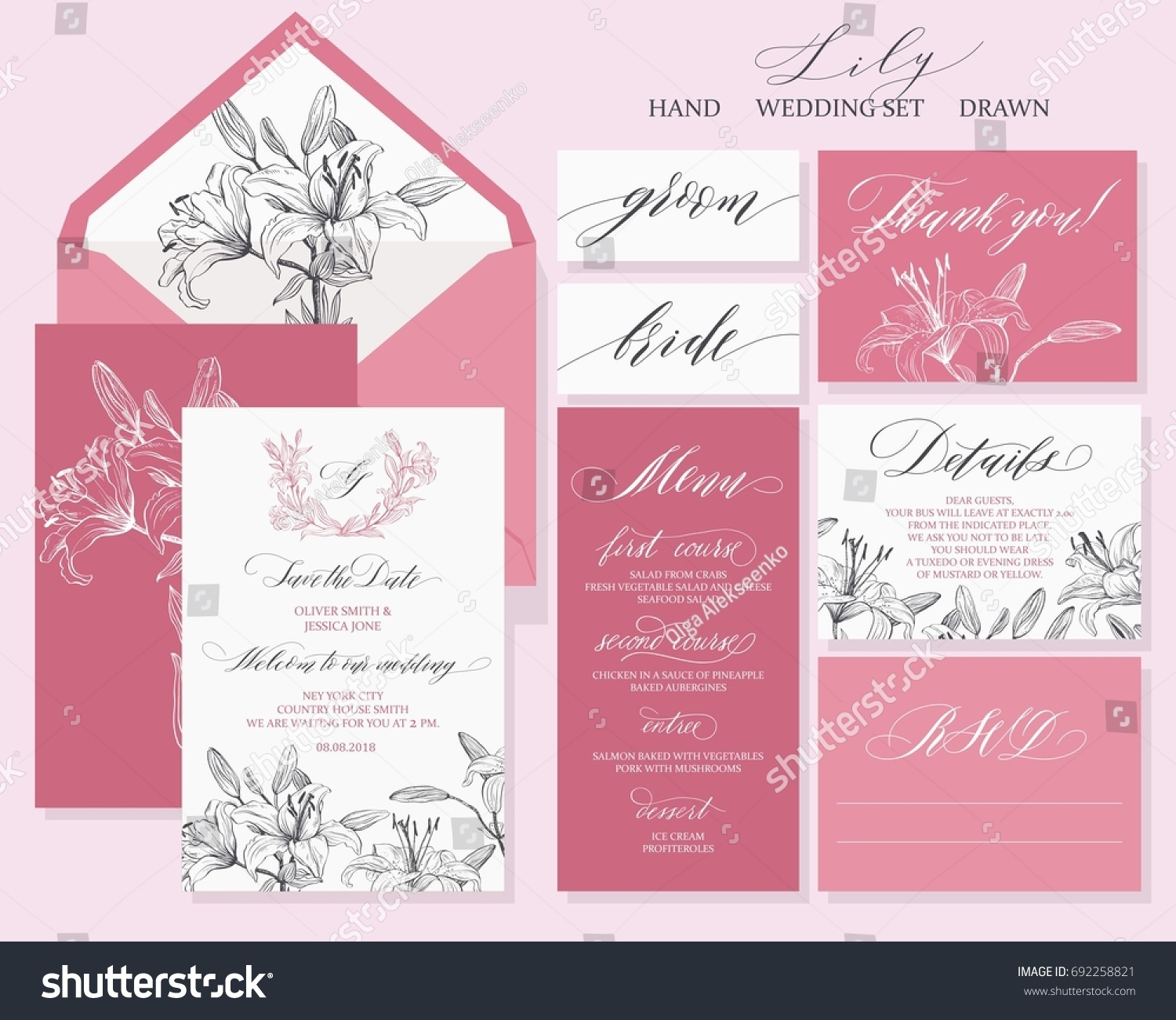 Template Rustic Wedding Invitations Save Date Stock Vector ...