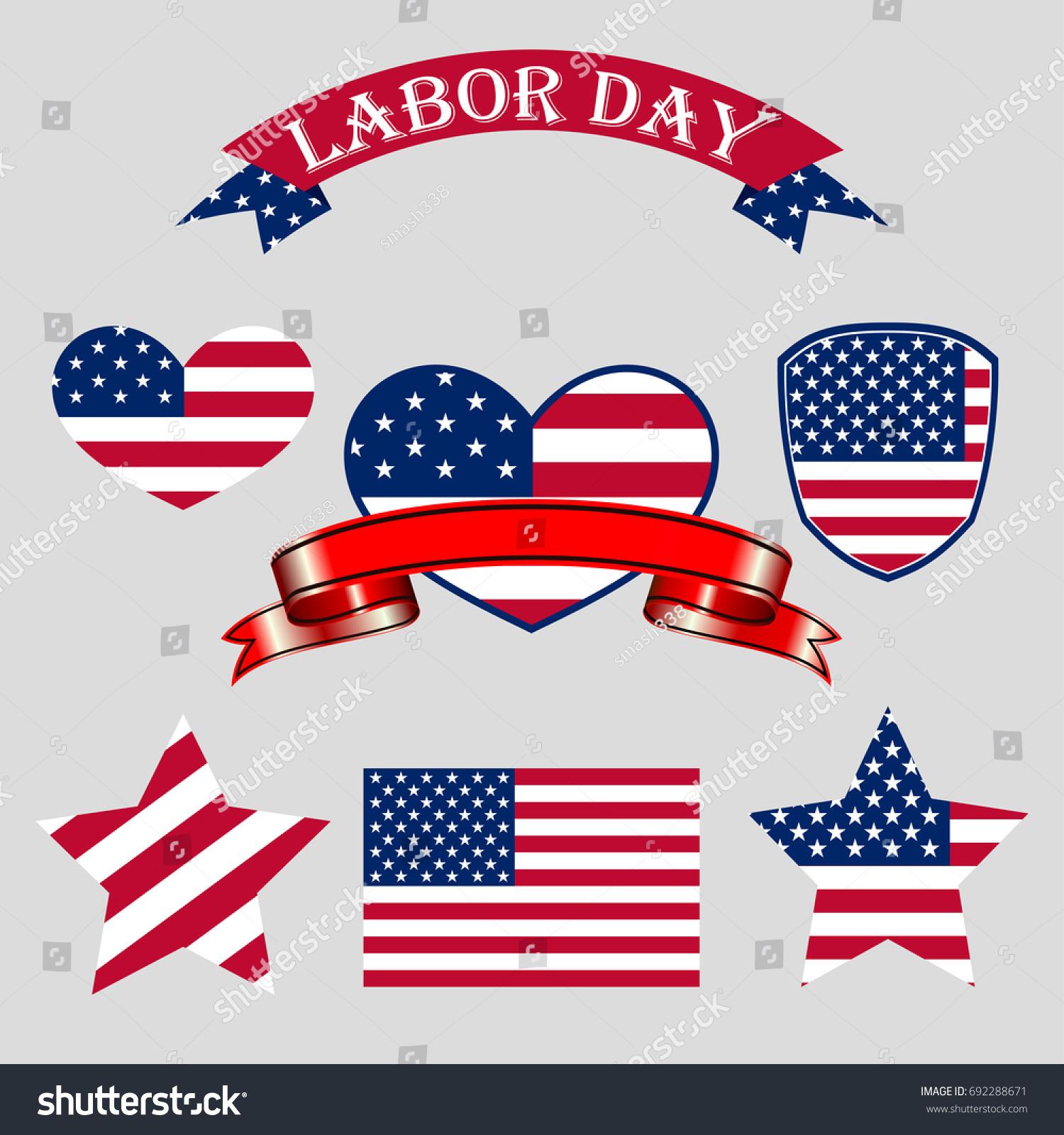 Labor day america set symbol stock vector 692288671 shutterstock set of symbol buycottarizona