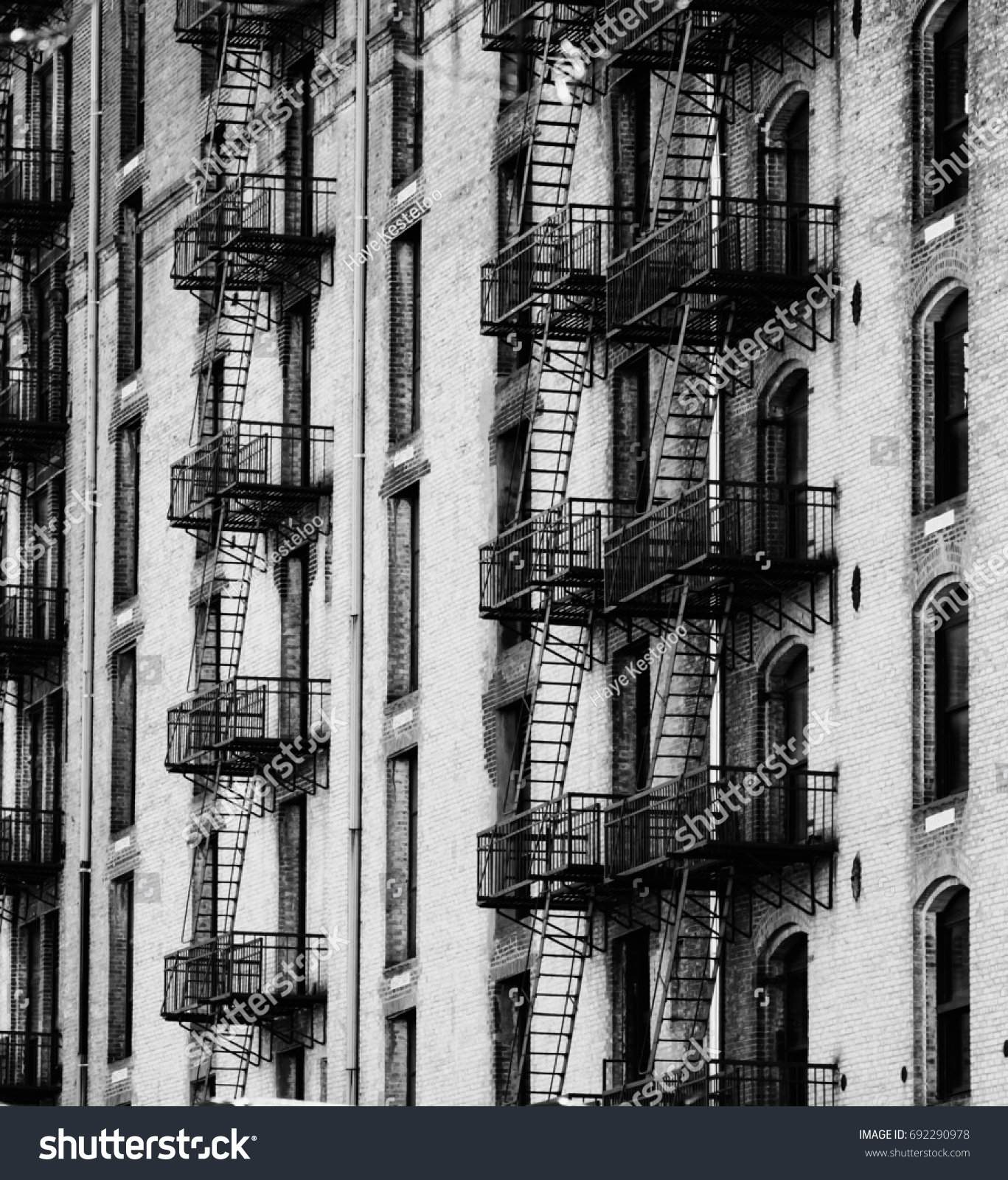 Design details of modern and classic architecture in manhattan photographed in high contrast and black