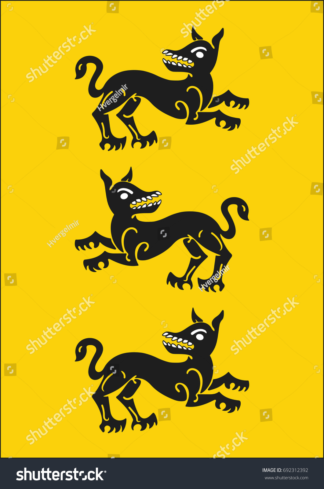 Redraw House Clegane Heraldic Sign Song Stock Vector Royalty Free