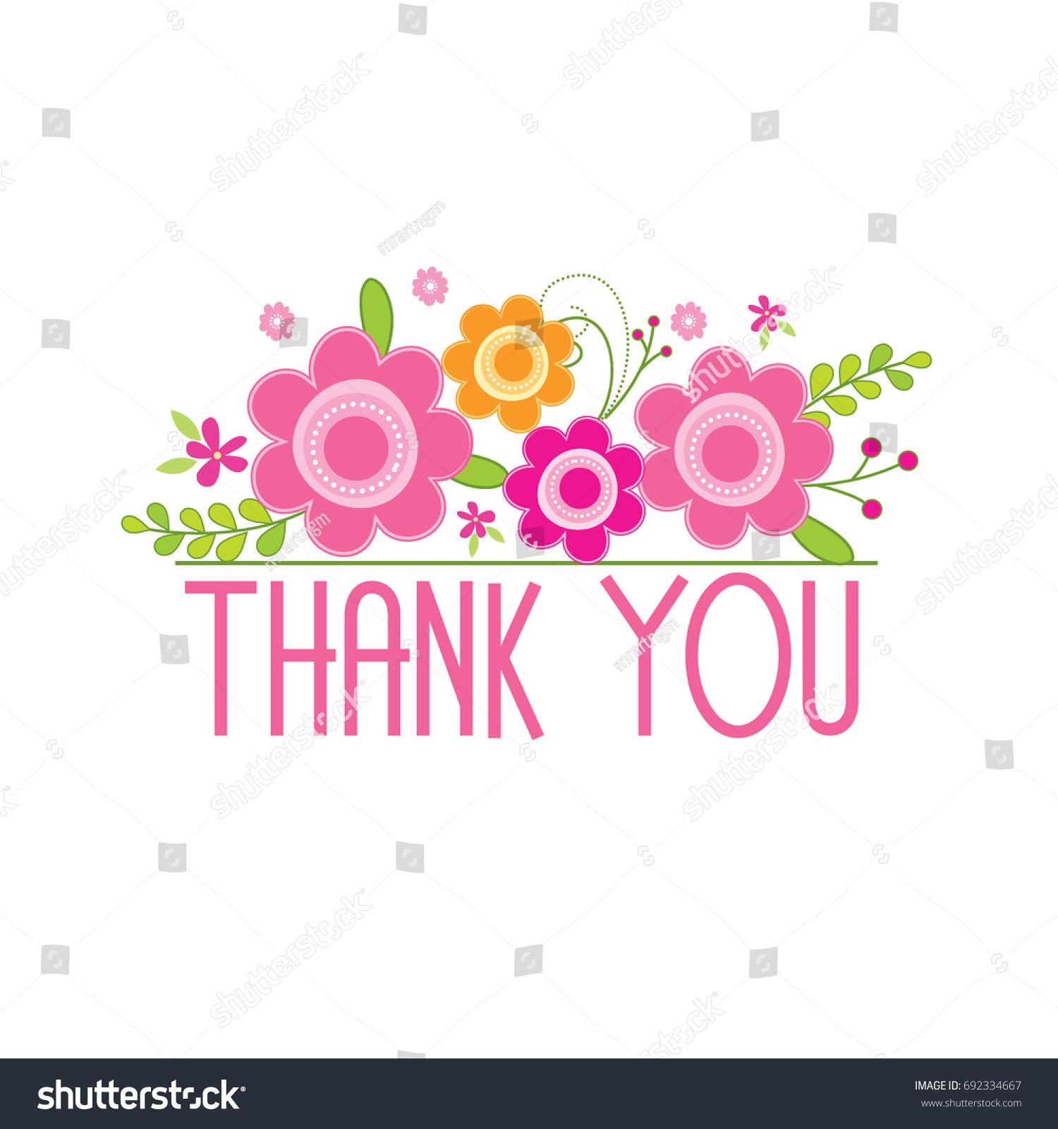 Thank you card beautiful flower design stock vector royalty free thank you card with beautiful flower design izmirmasajfo