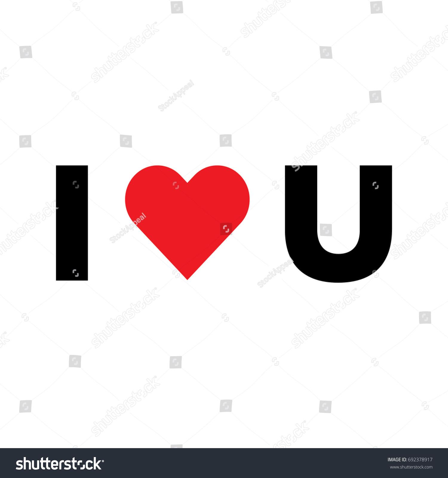 Vector Love You Heart Icon Heart Stock Vector 692378917 Shutterstock