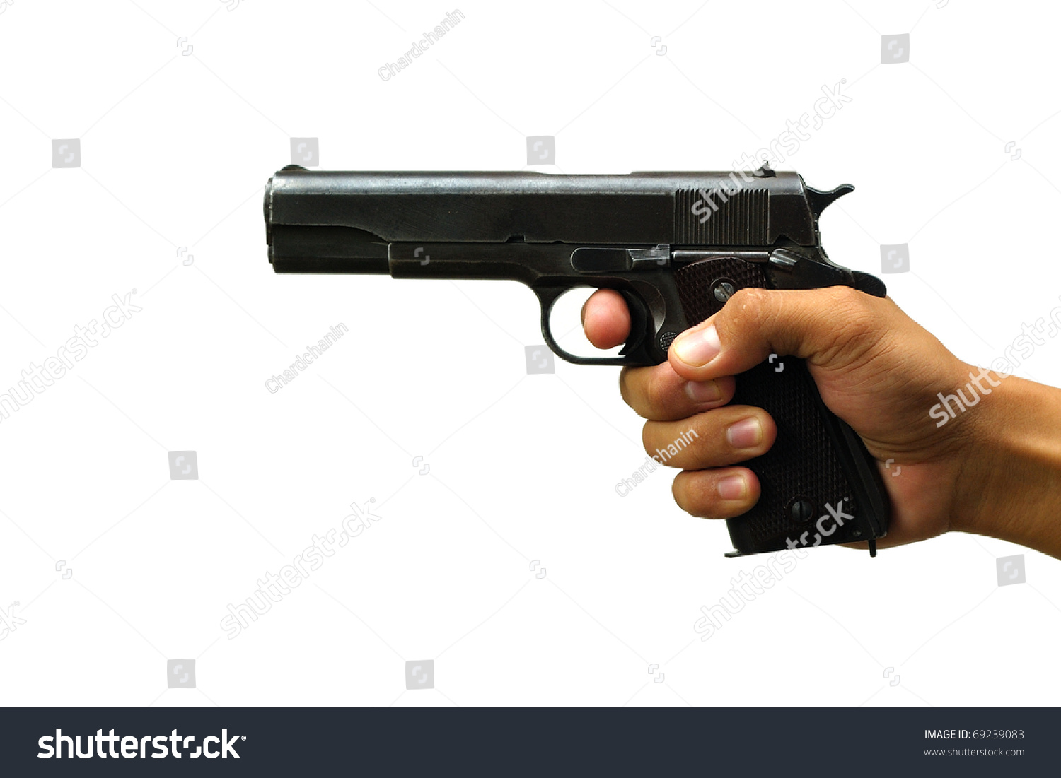 gun white background - photo #44