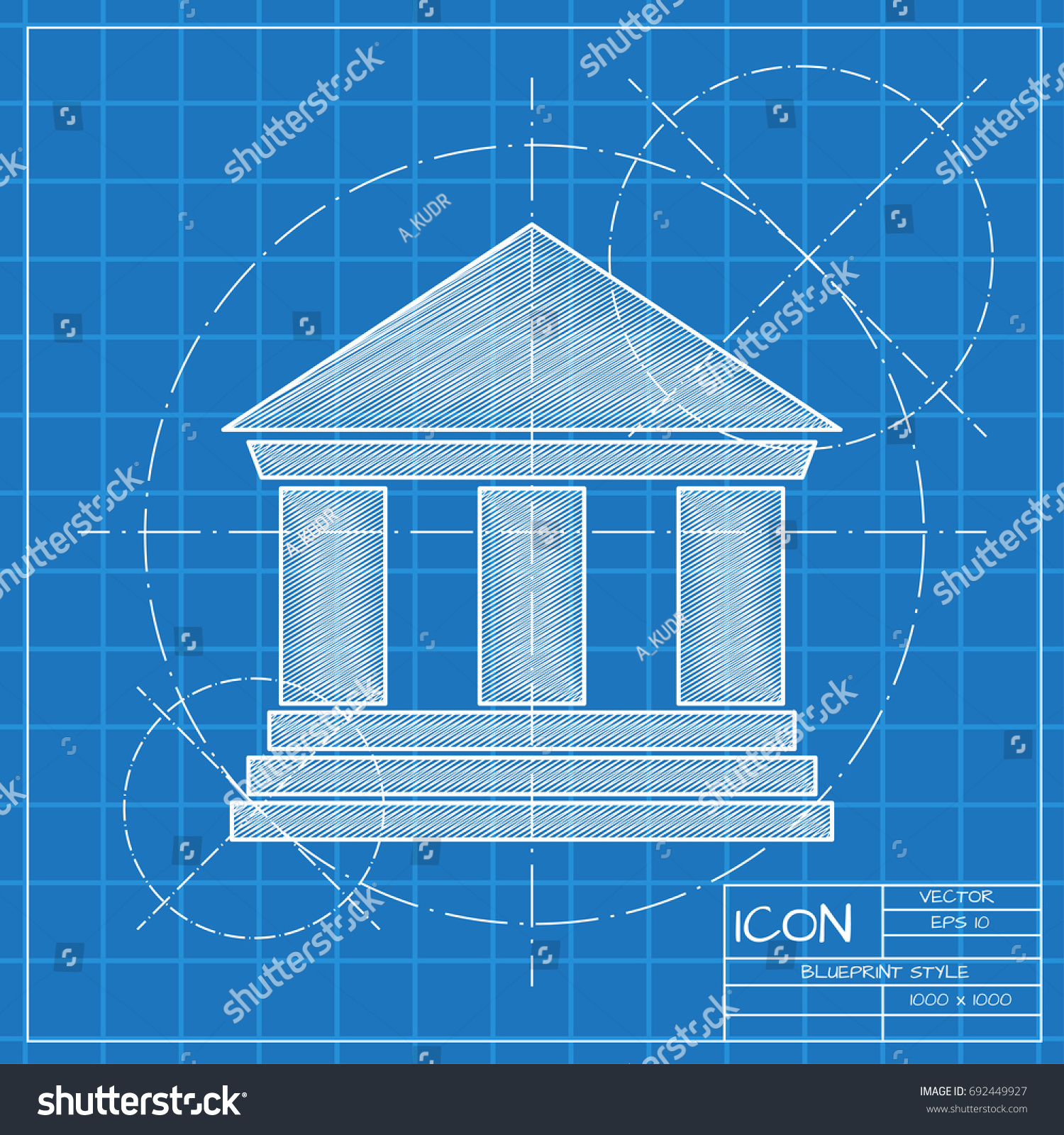 Vector blueprint building icon on engineer stock vector 692449927 vector blueprint building icon on engineer stock vector 692449927 shutterstock malvernweather Images