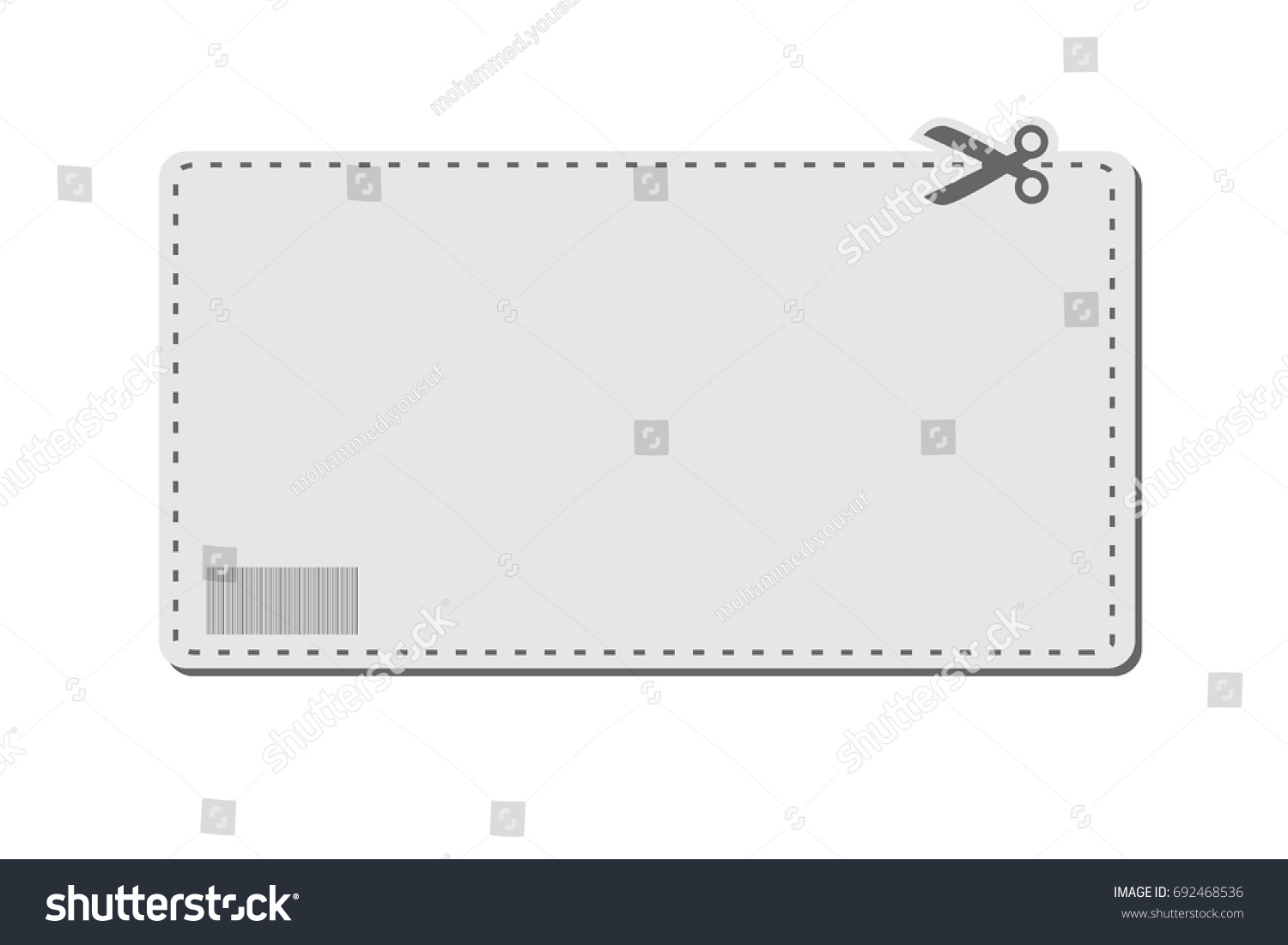 blank coupon template barcode dotted line stock vector royalty free