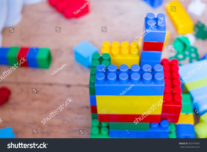 Designer Blocks Plastic Toy Blocks Kids Stock Photo Edit Now