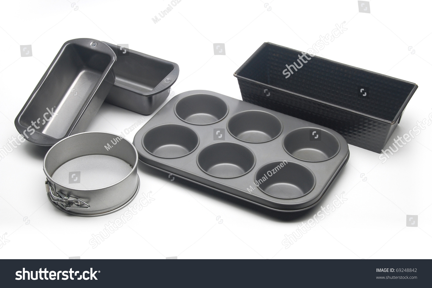 different types baking pans moulds cake stock photo 69248842 shutterstock. Black Bedroom Furniture Sets. Home Design Ideas