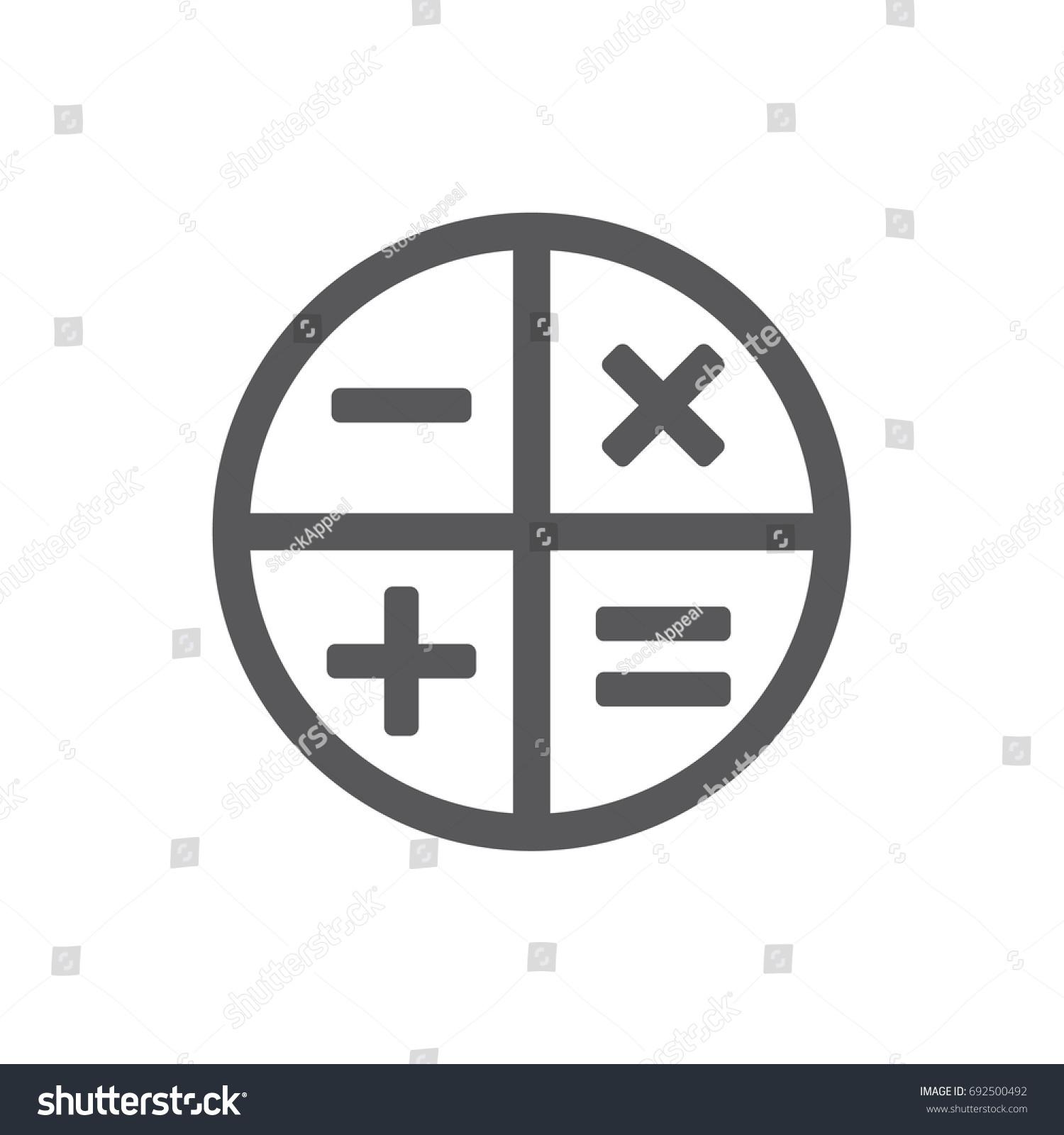 Square math calculator app icon plus stock vector (royalty free.