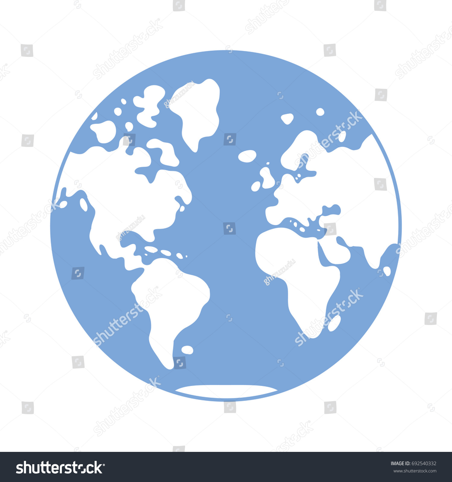 World map vector icon globe western vectores en stock 692540332 world map vector icon globe western hemisphere gumiabroncs Choice Image