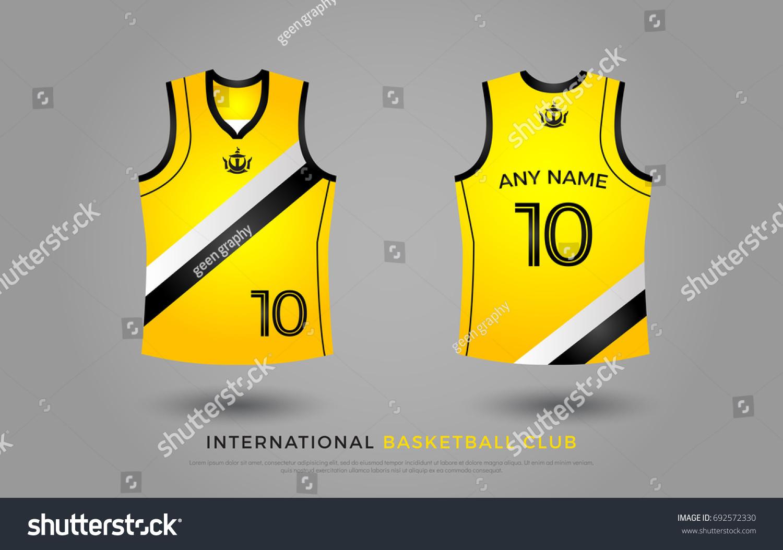 2f043f096 basketball t-shirt design uniform set of kit. basketball jersey template.  black and