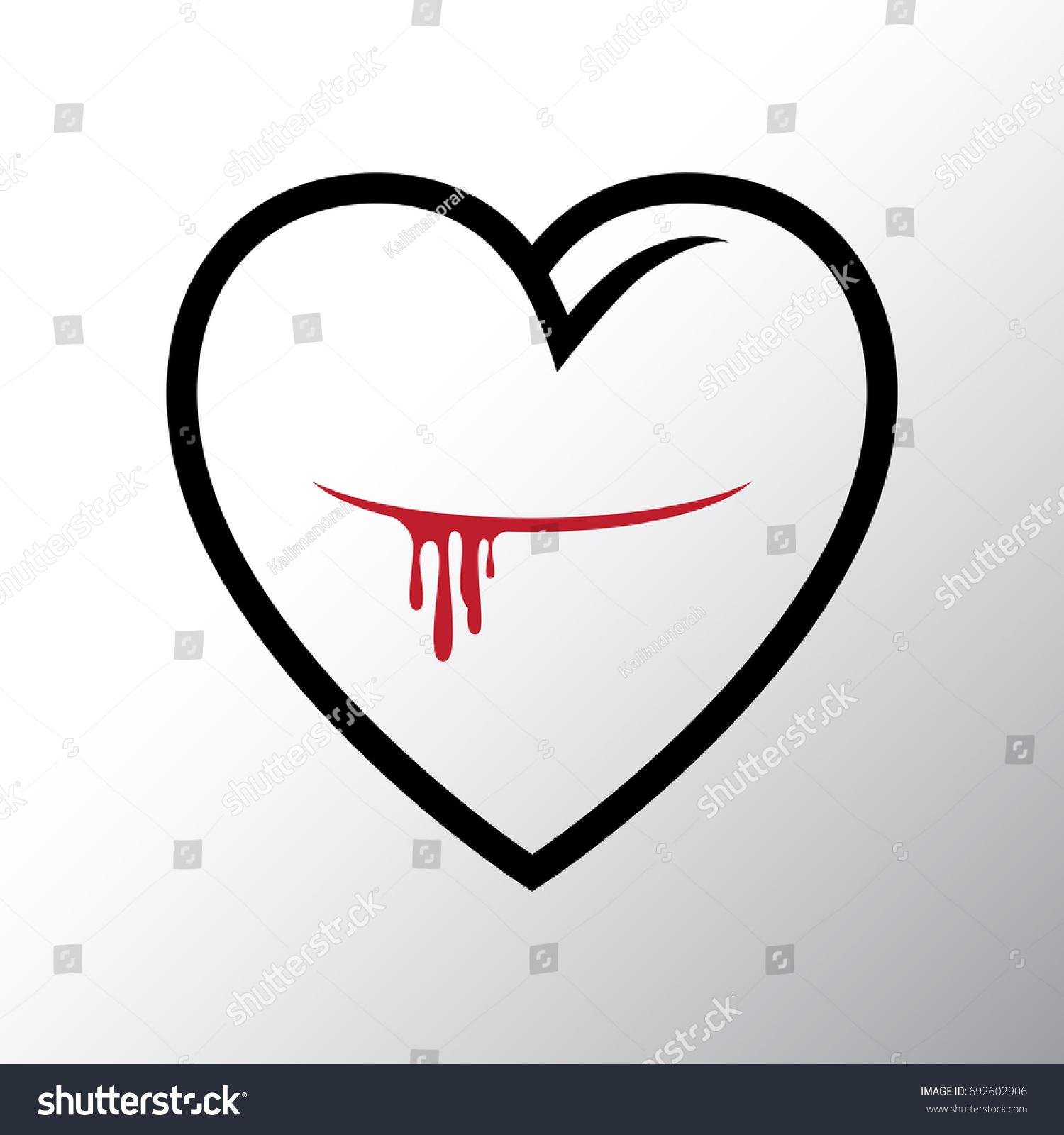 Bleeding heart logo stock vector 692602906 shutterstock bleeding heart logo buycottarizona