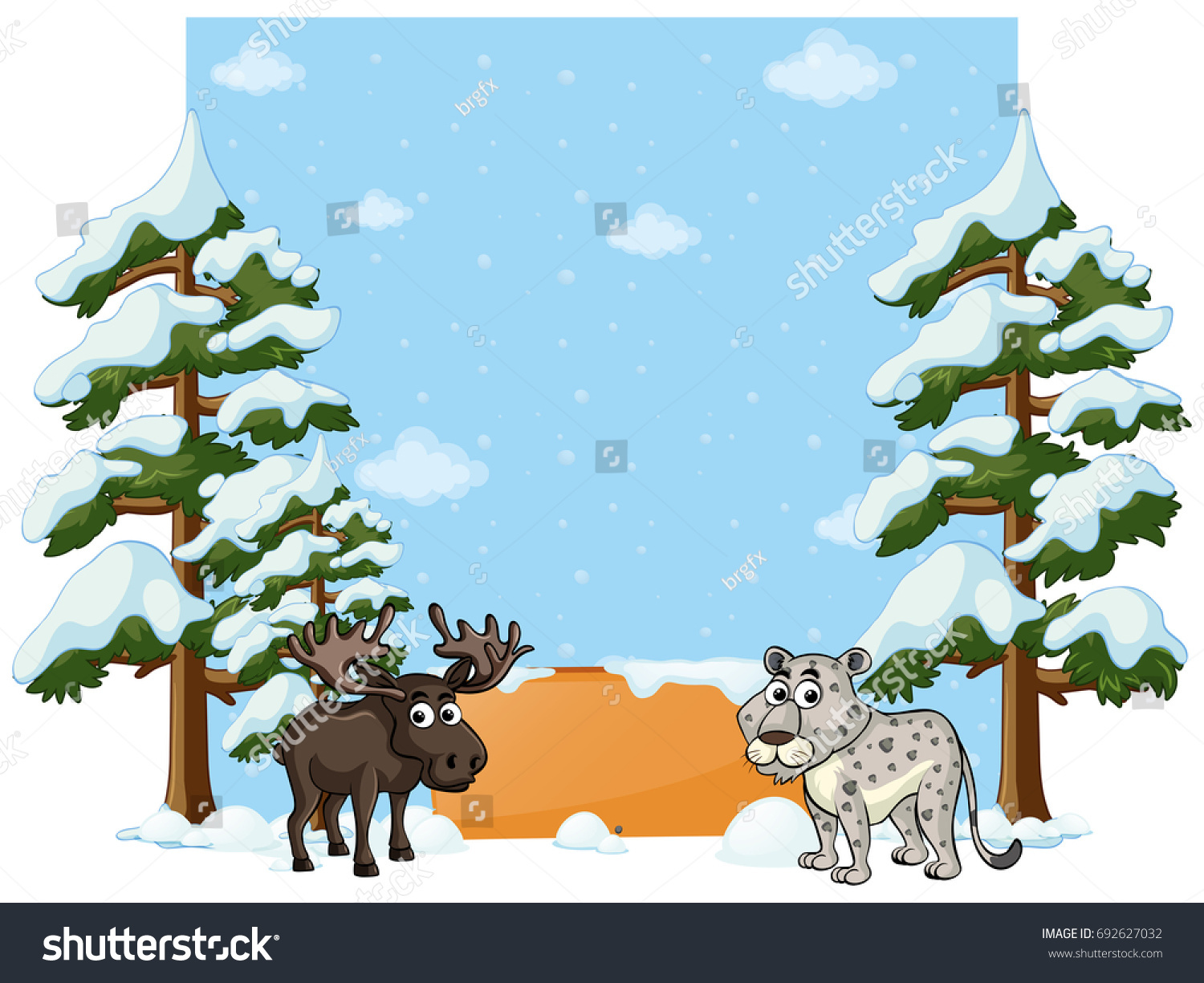 Banner Design Cheetah Moose Illustration Stock Photo Photo Vector