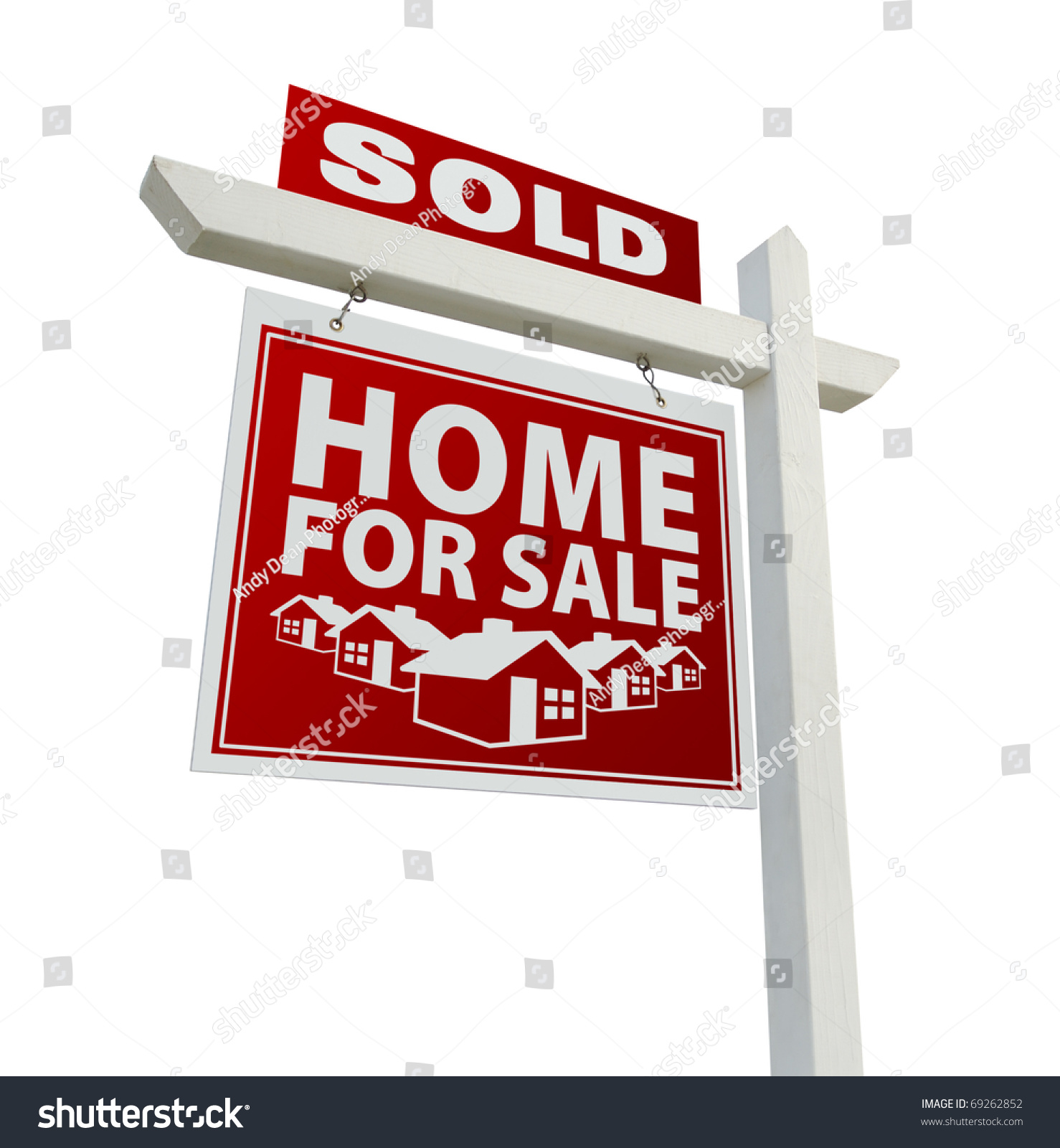 Z Homes For Sale Stock Photo Red Sold Home For Sale Real