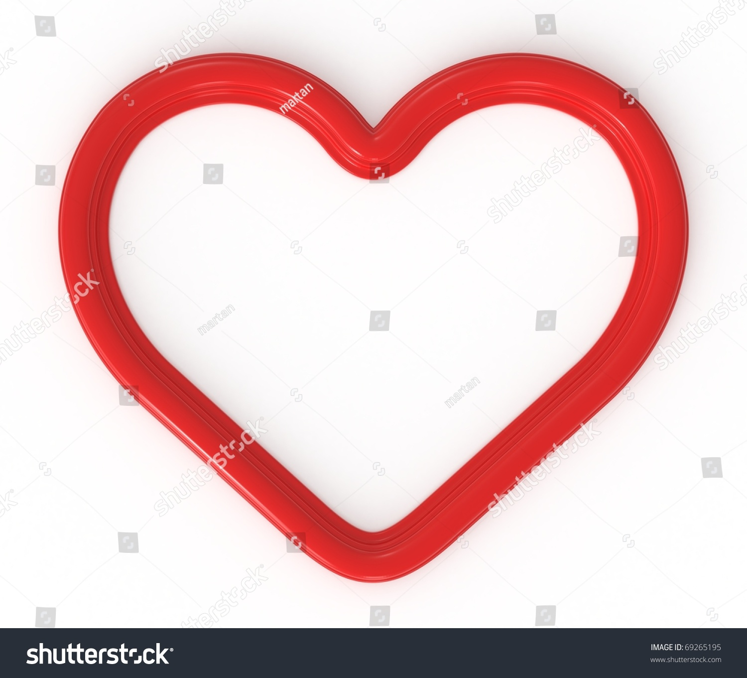 3 D Red Heart Shaped Frame Ready Stock Illustration 69265195 ...