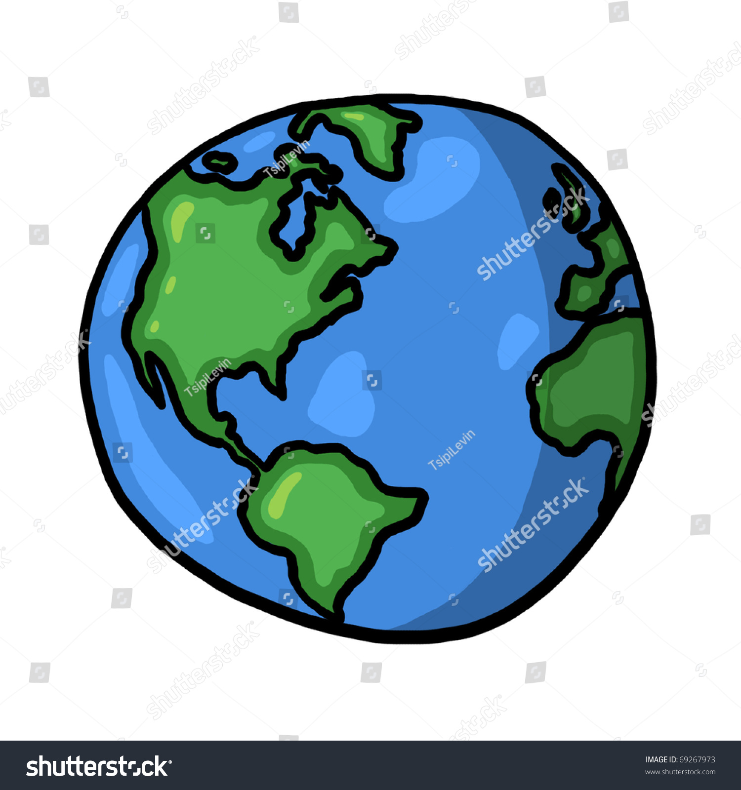 world illustration planet earth freehand drawing stock illustration