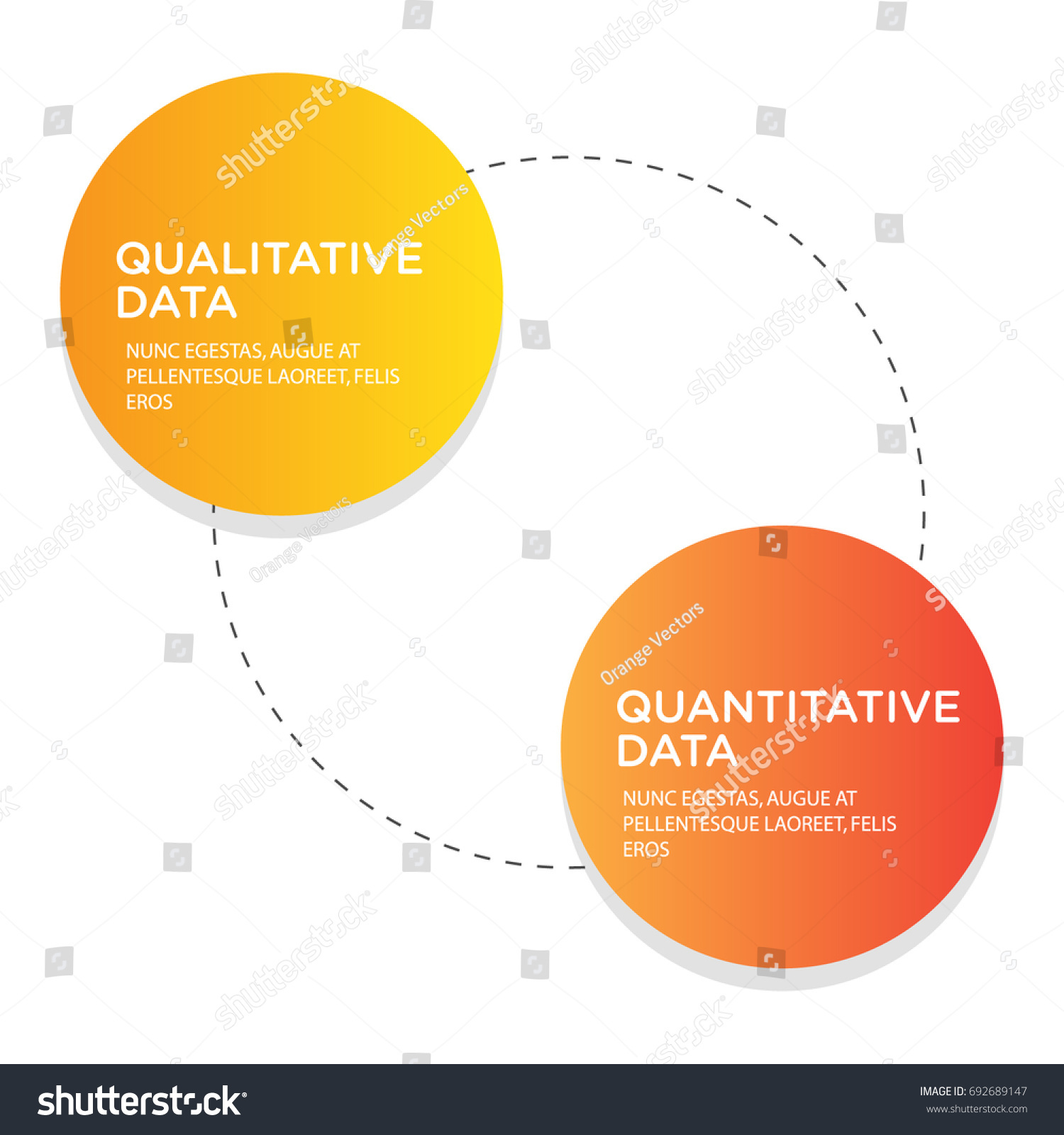Qualitative Data Versus Quantitative Data Text Stock ...