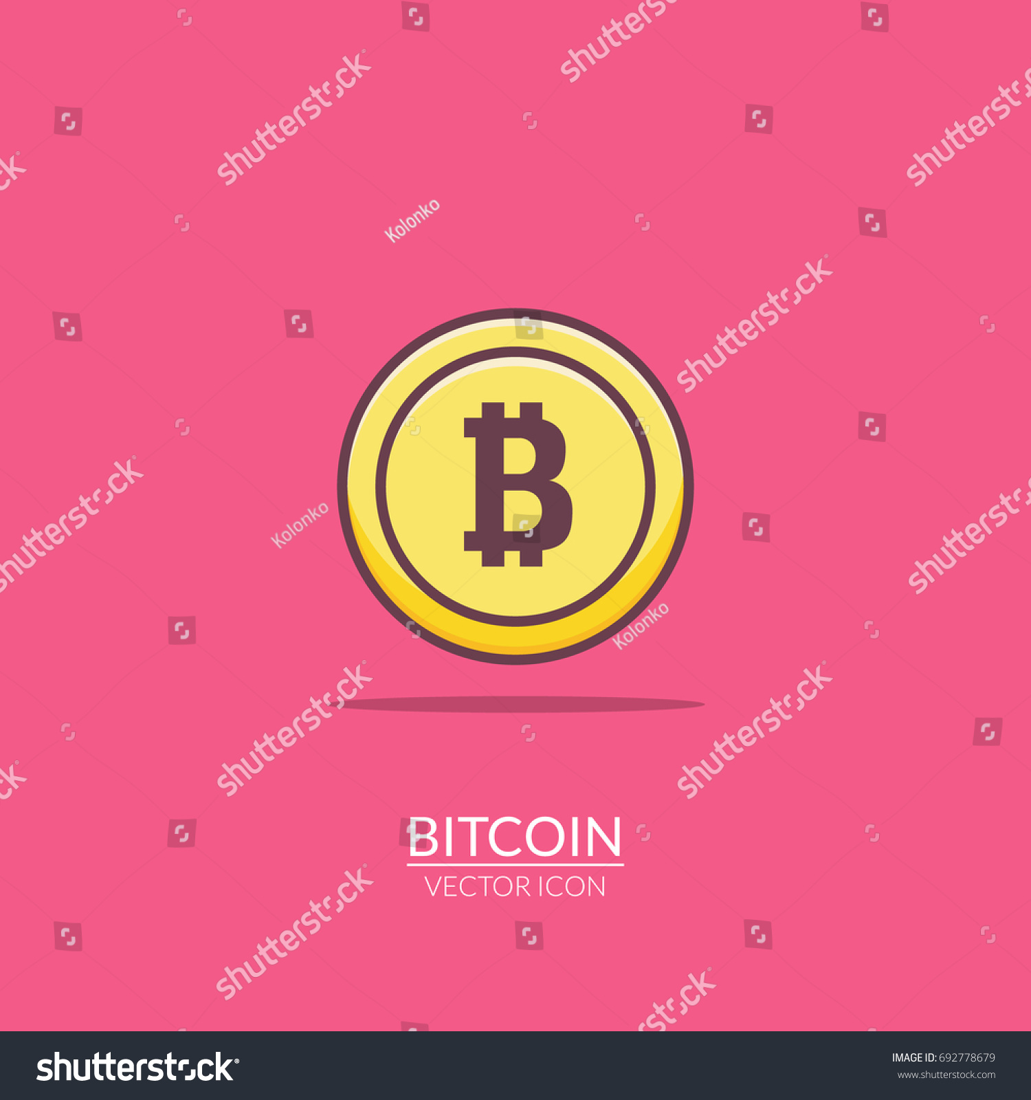 Bitcoin flat icon digital money bit stock vector 692778679 bit coin electronic gold illustration market sign symbol biocorpaavc Images