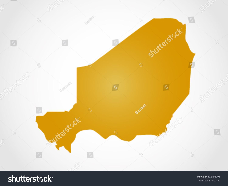 Niger Map Territory Stock Vector 692795008 Shutterstock