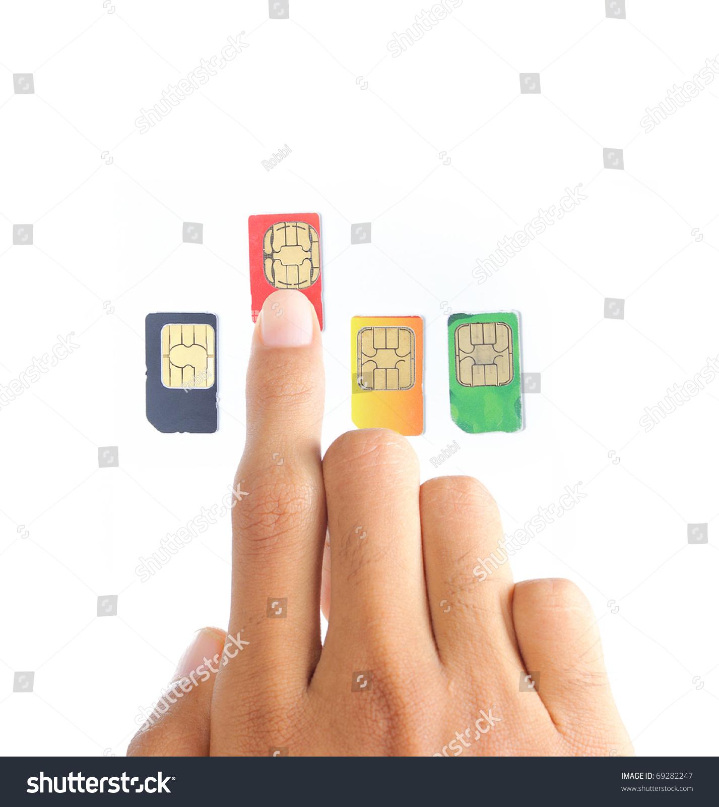 Hand Choosing Best Sim Card Cellular Stock Photo (Edit Now