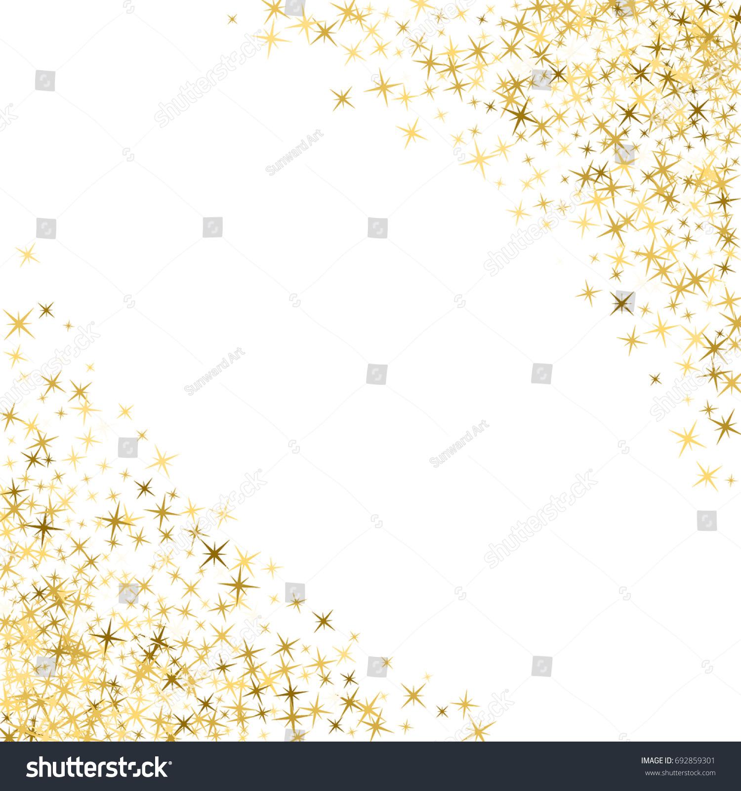 Magic Stars Golden Glitter Sparkles Vector Stock Vector ...