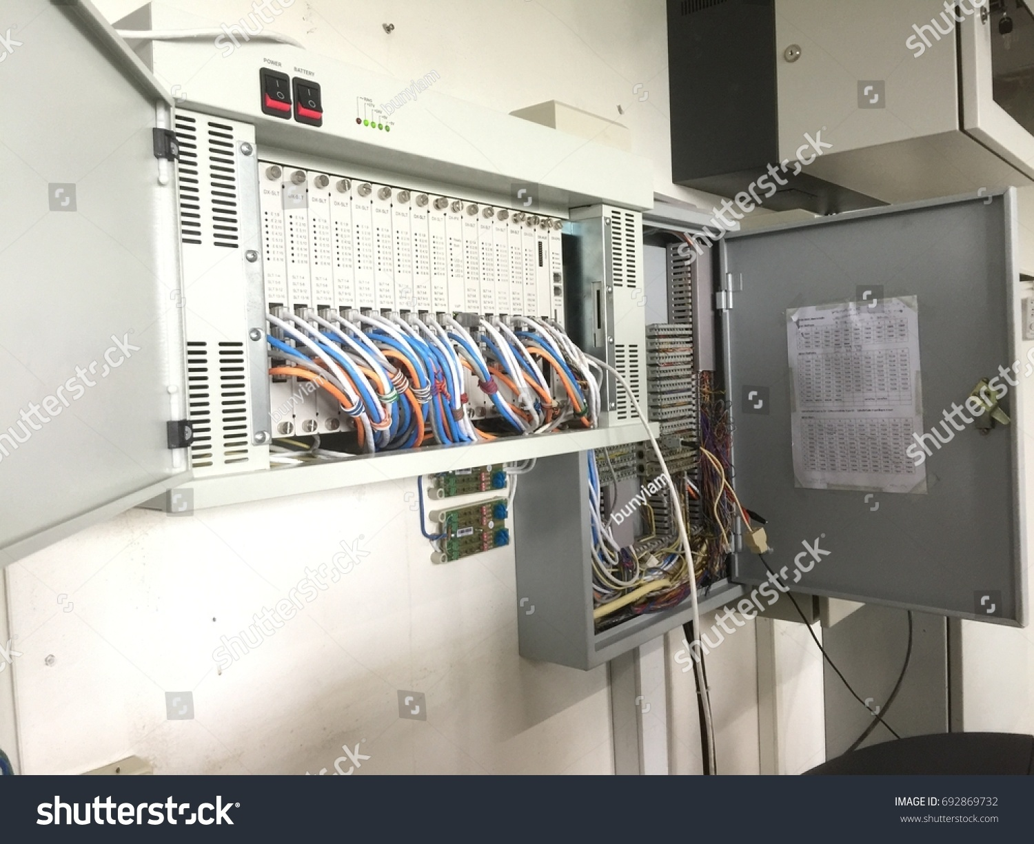 Private Automatic Branch E Xchange Telephone System Stock Photo Wiring Exchange Cable Pabx