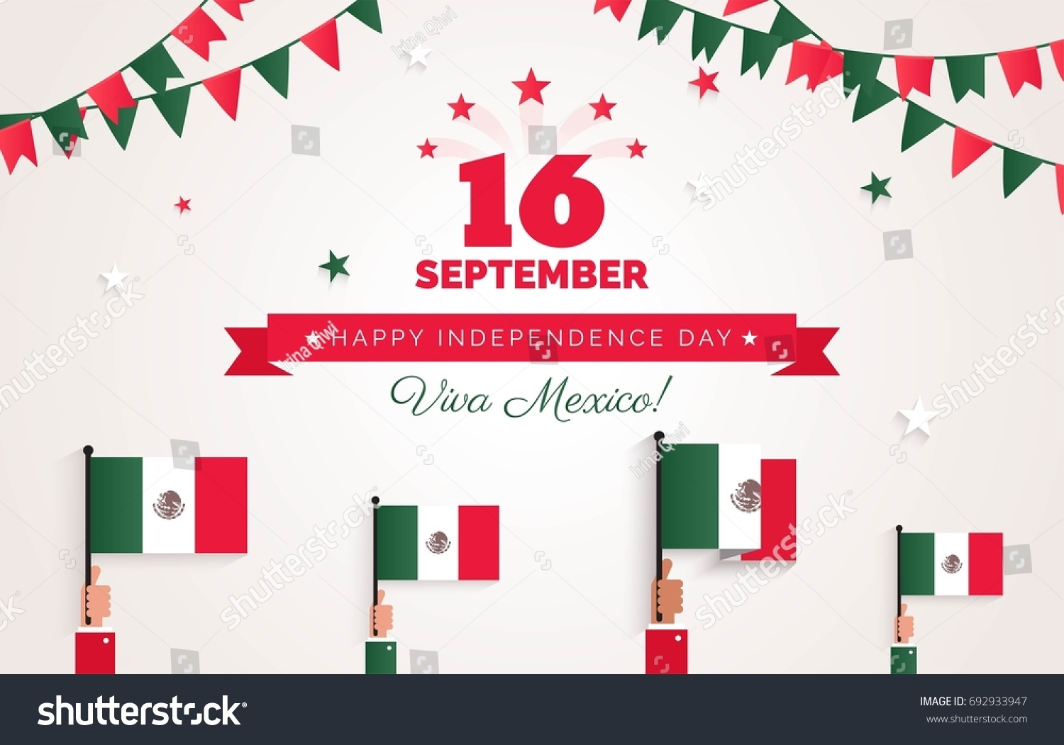 16 september mexico happy independence day stock vector royalty mexico happy independence day greeting card celebration background with bunting flags m4hsunfo