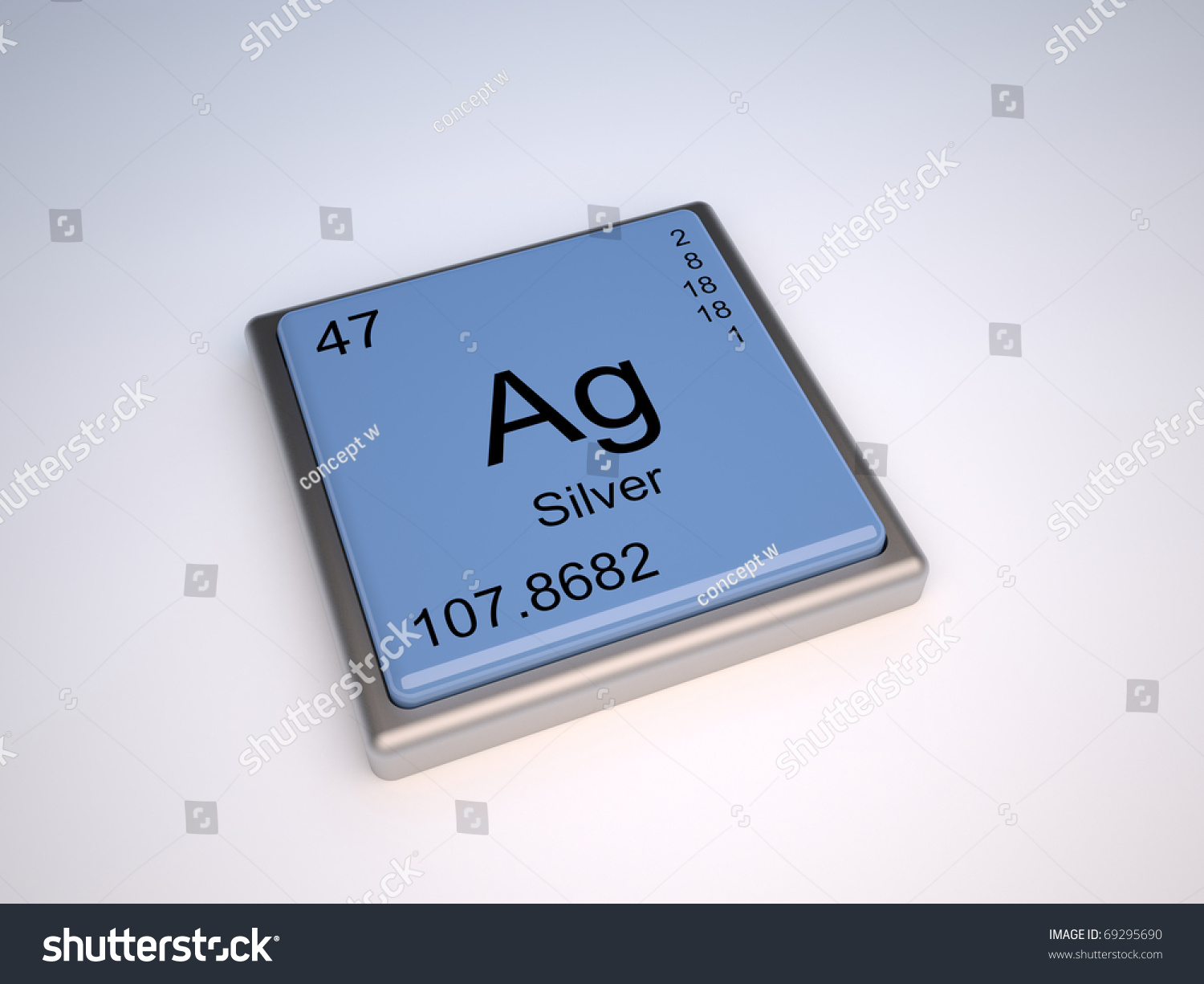 Silver chemical element periodic table symbol stock illustration silver chemical element of the periodic table with symbol ag urtaz Image collections