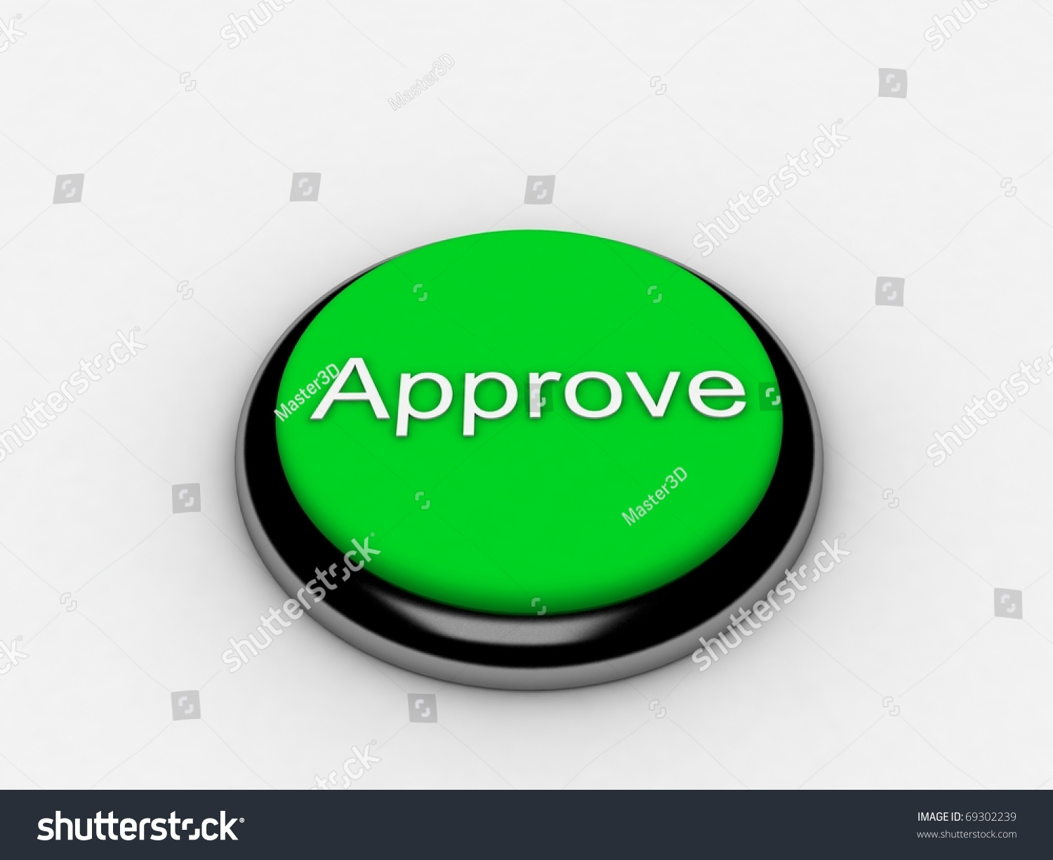 3d green button approve pressed stock photo 69302239 - Green button ...