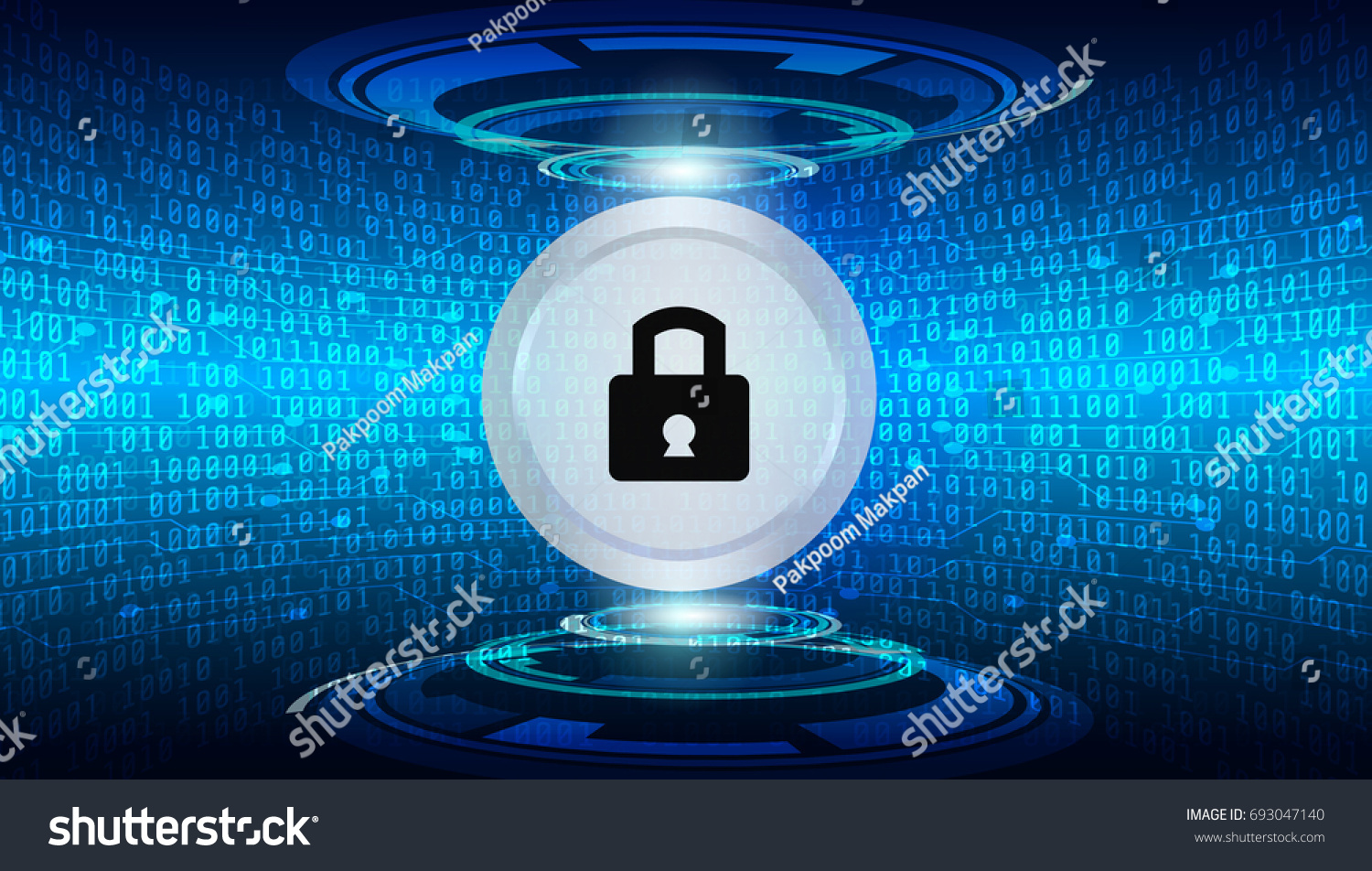 Hi Technology Sci Fi Cyber Security Stock Vector (Royalty