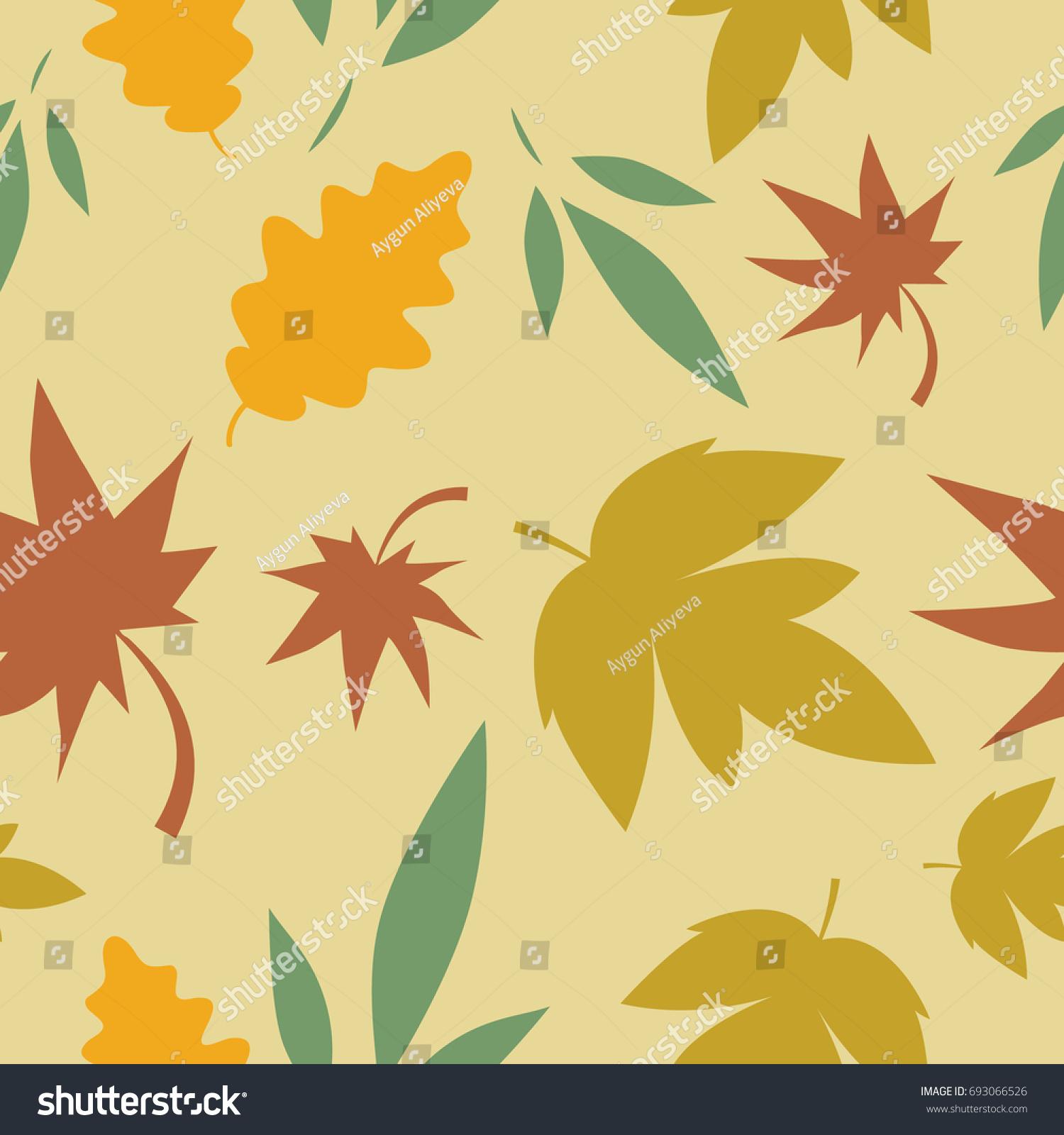 Autumn Seamless Pattern Leaf Autumn Leaf Stock Vector Royalty Free 693066526