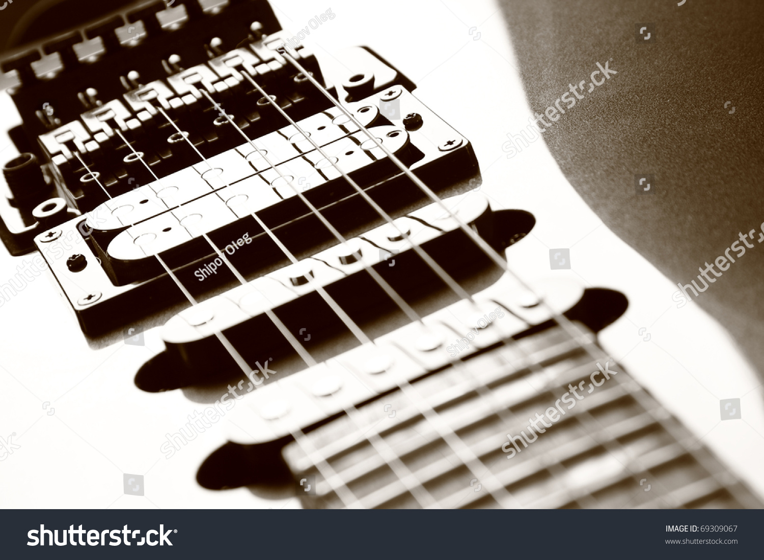 Closeup Electric Guitar Body Strings String Stock Photo Edit Now