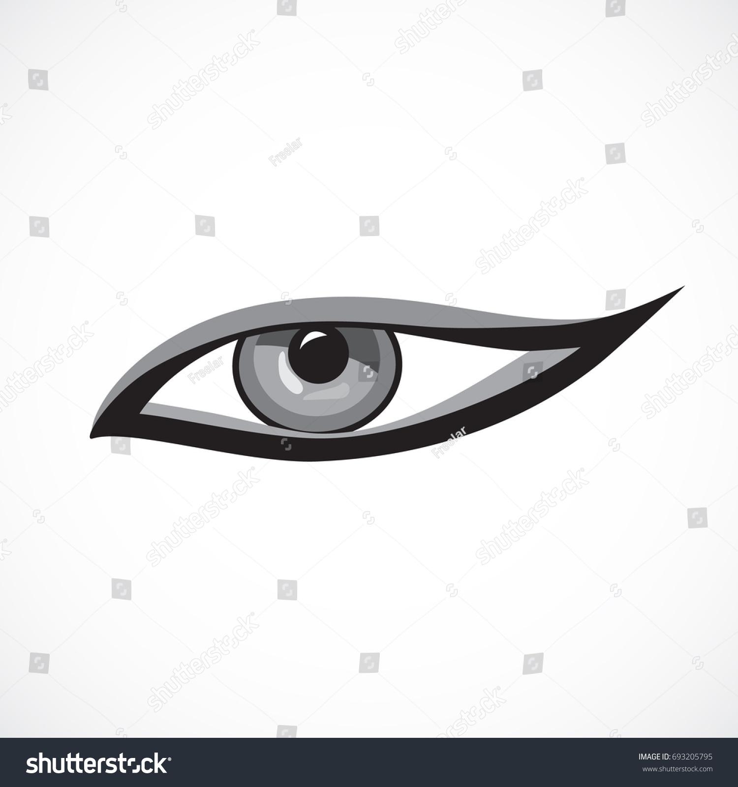 Eye Icon Cat Eye Makeup On Stock Vector Royalty Free 693205795
