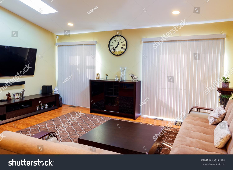 Interior Living Room Kitchen Zone Villa Stock Photo 693211384 ...