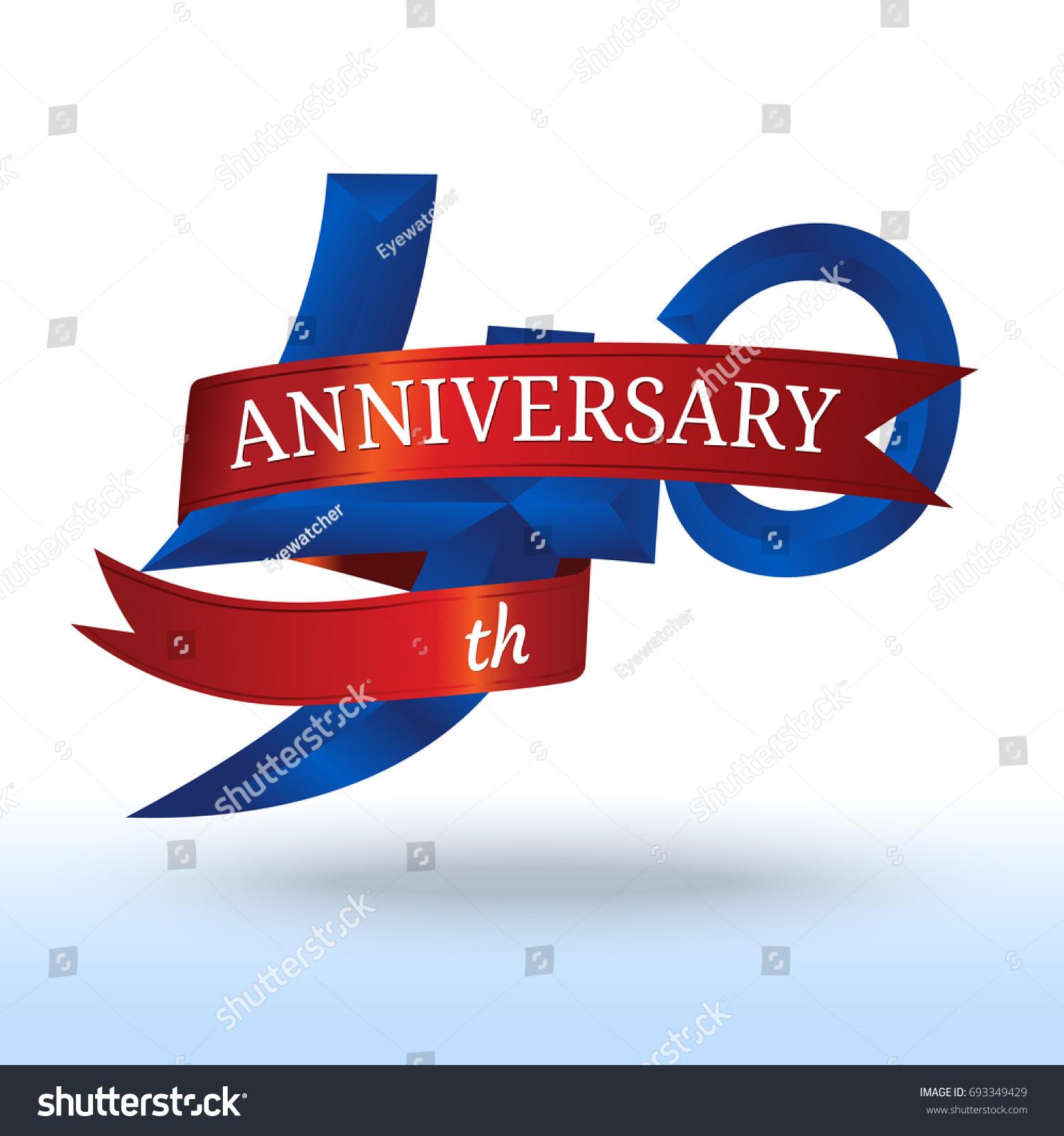 40th Years Anniversary Symbol Vector Stock Vector Royalty Free