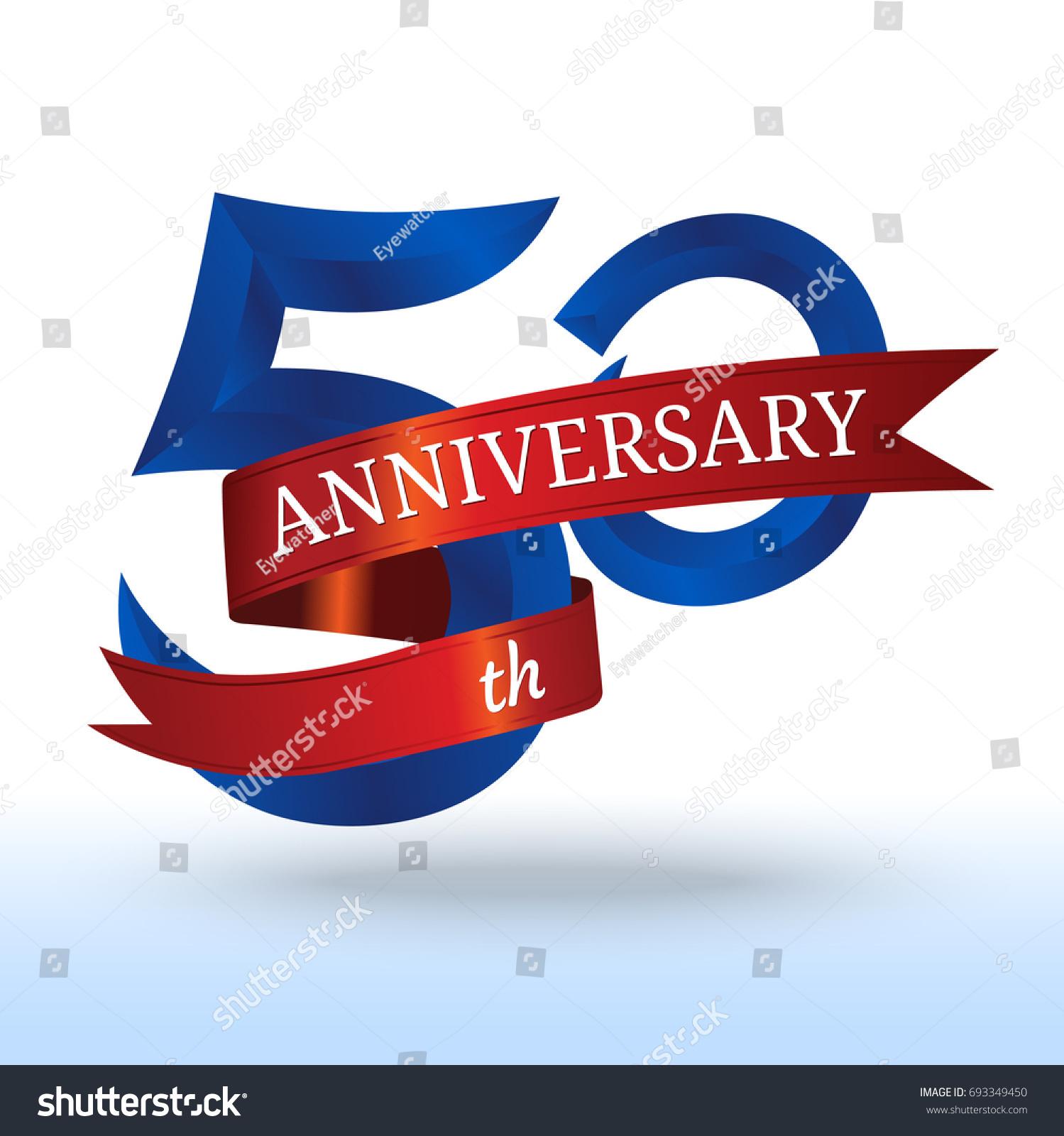 50th Years Anniversary Symbol Vector Stock Vector Royalty Free