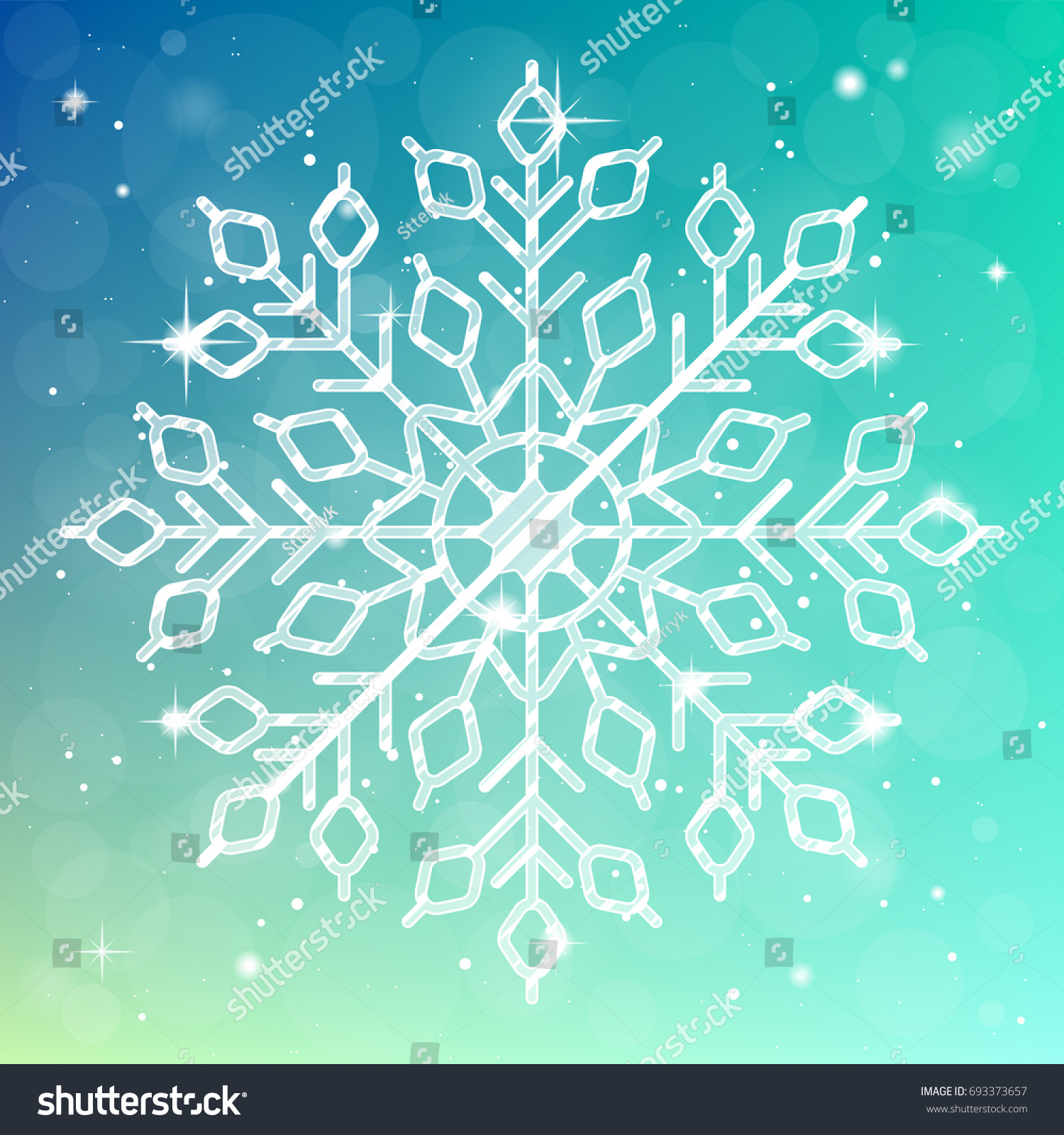 Ice Cream Background Sparking Shiny Decoration Free Vector: Xmas Shiny Snowflake Banner Winter Detailed Stock Vector