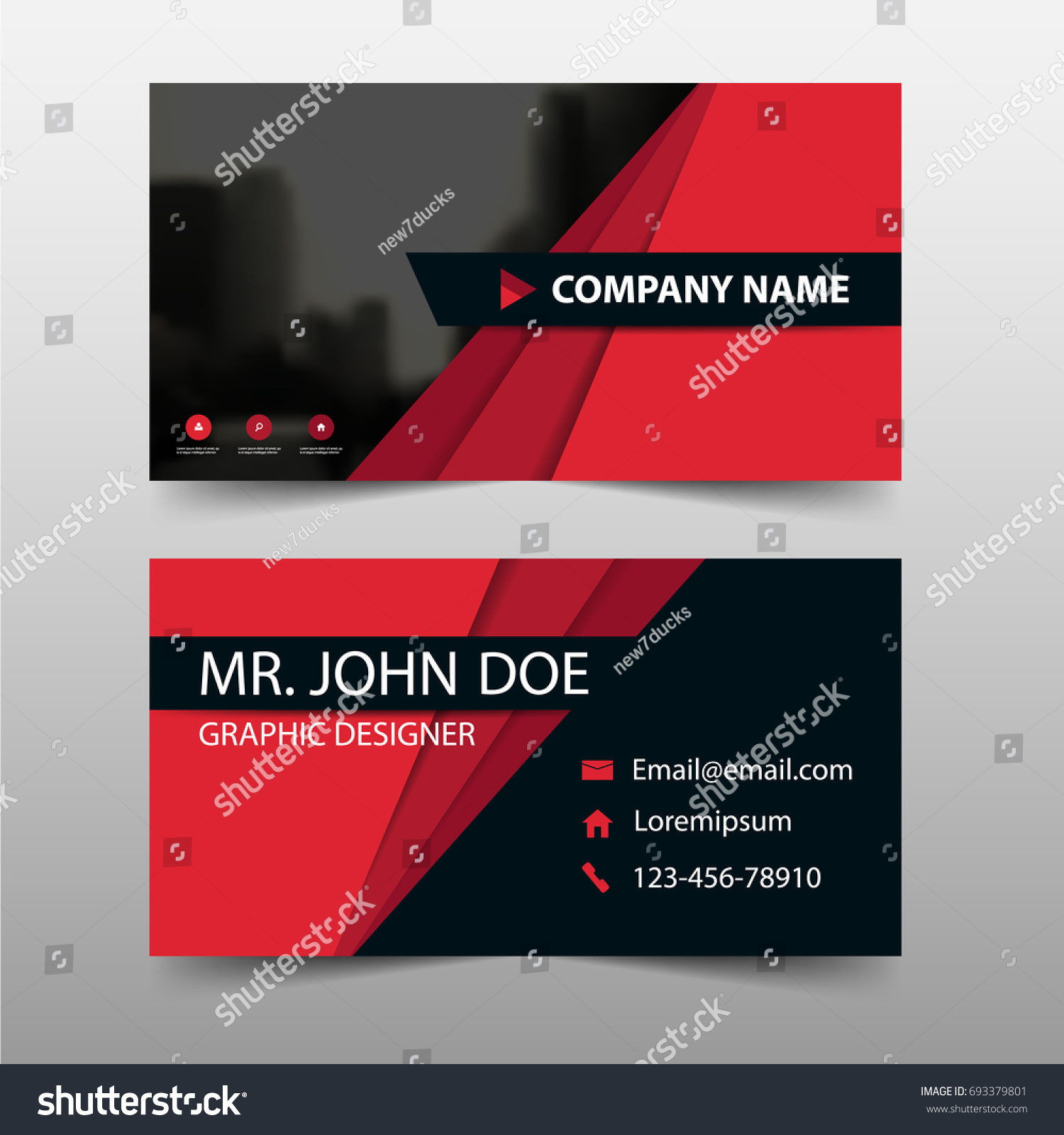Corporate Business Card Name Card Template Stock Vector Royalty
