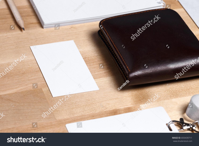 Workspace envelope wallet business card notebook stock photo workspace with envelope wallet business card notebook pencil badge office colourmoves Gallery