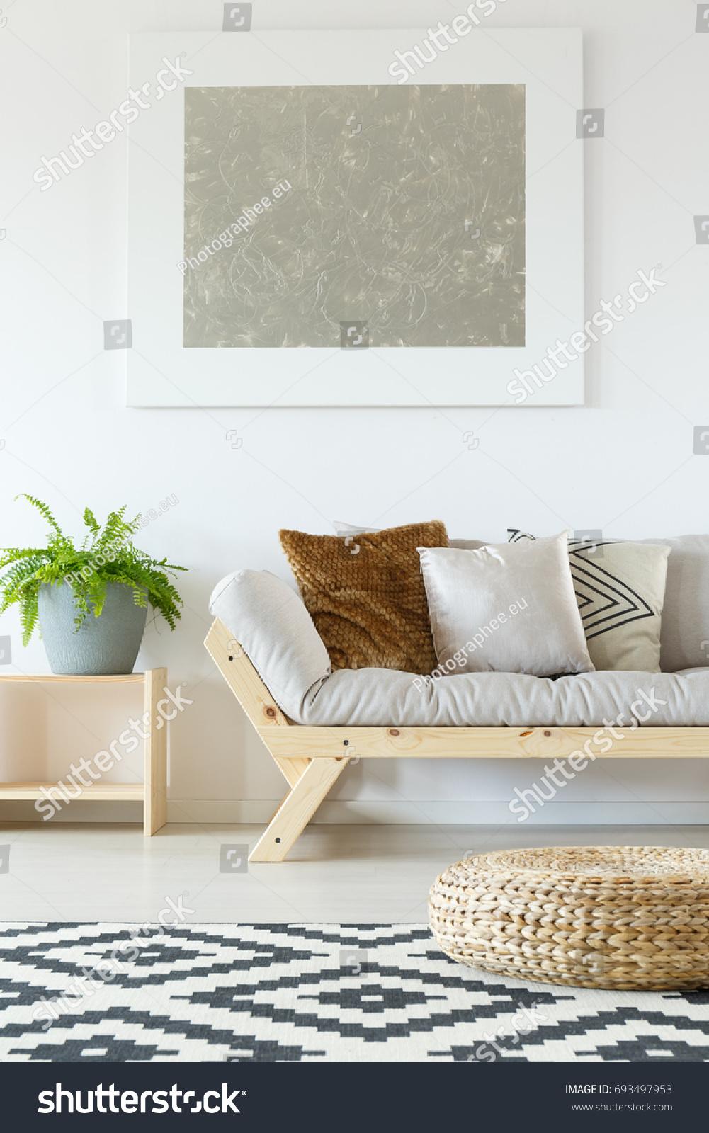 Cozy Interior White Natural Studio Apartment Stock Photo (Royalty ...
