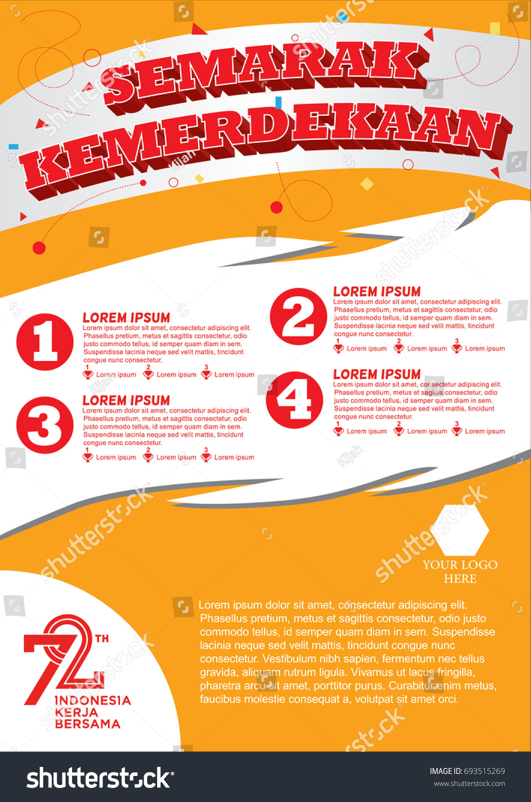 Poster Lomba 17 Agustus 2017 Indonesia Stock Image Download Now