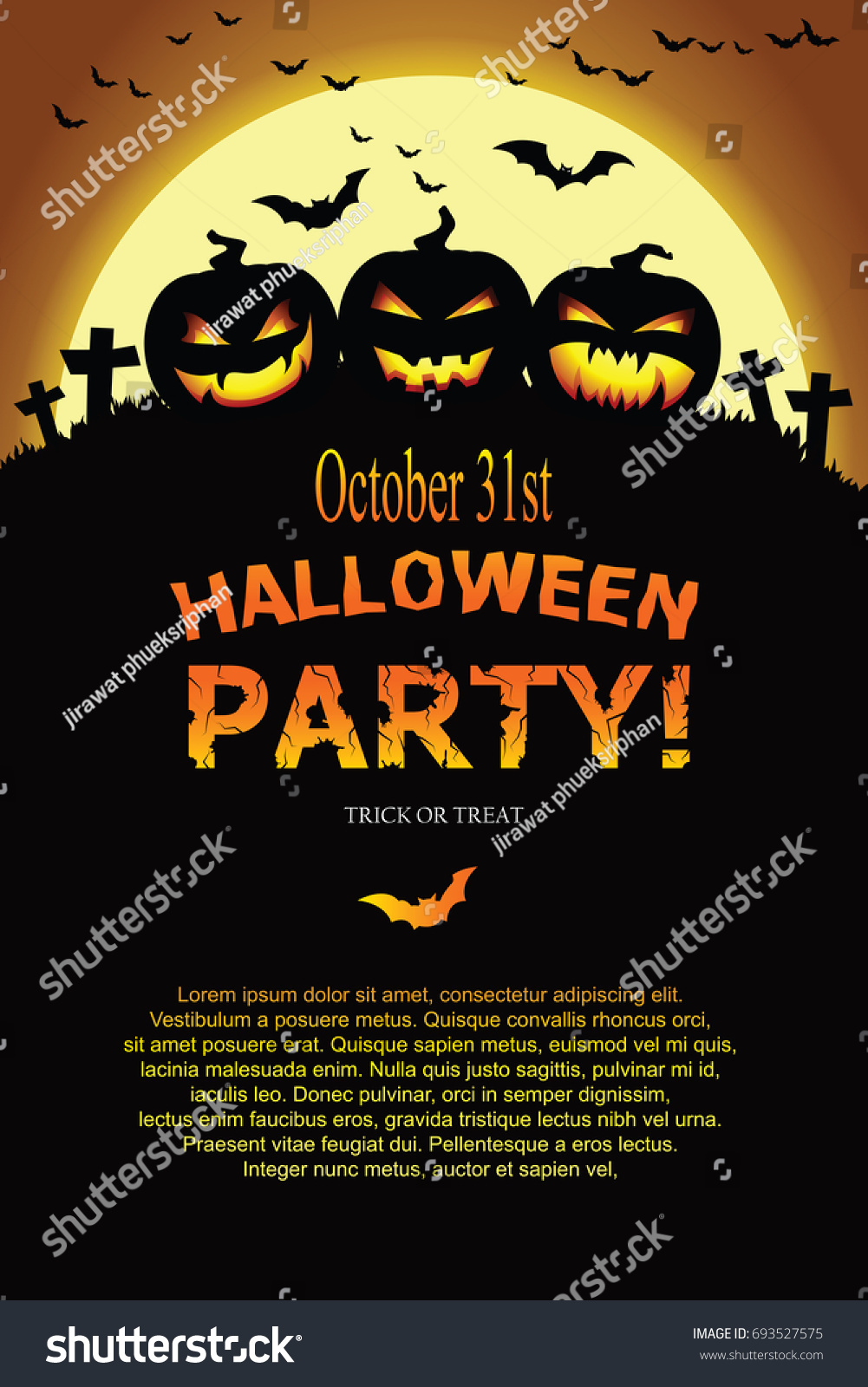 Halloween party style poster collection ez canvas stopboris Gallery