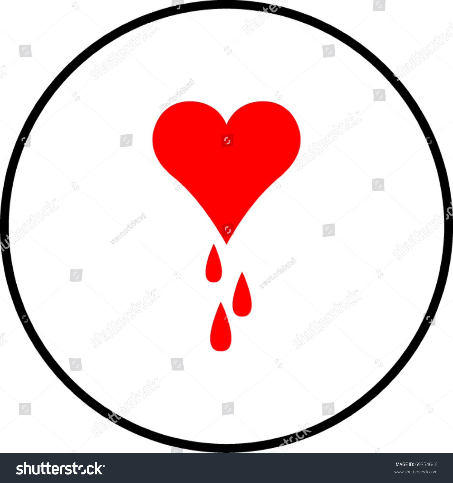 Heart bleeding symbol stock vector 69354646 shutterstock heart bleeding symbol buycottarizona