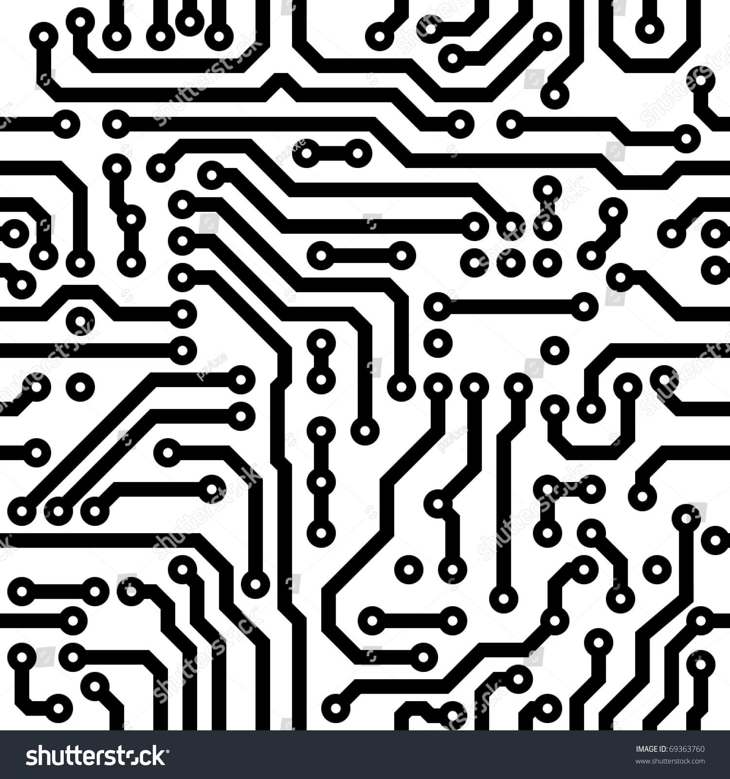 Circuit Board Vector Texture Computer Nanotechnology Image ...