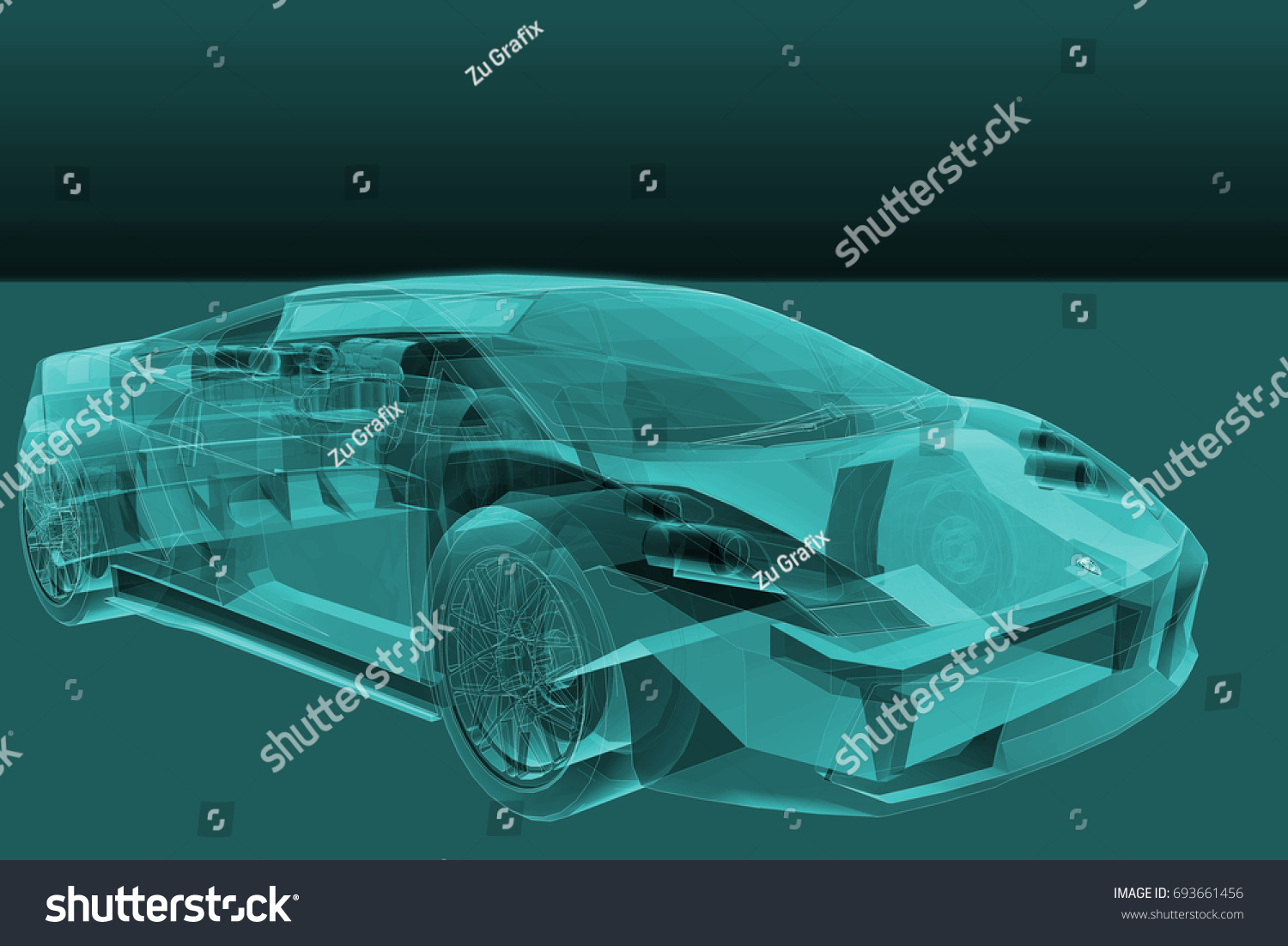 3d Rendering Abstract Car Tech Background