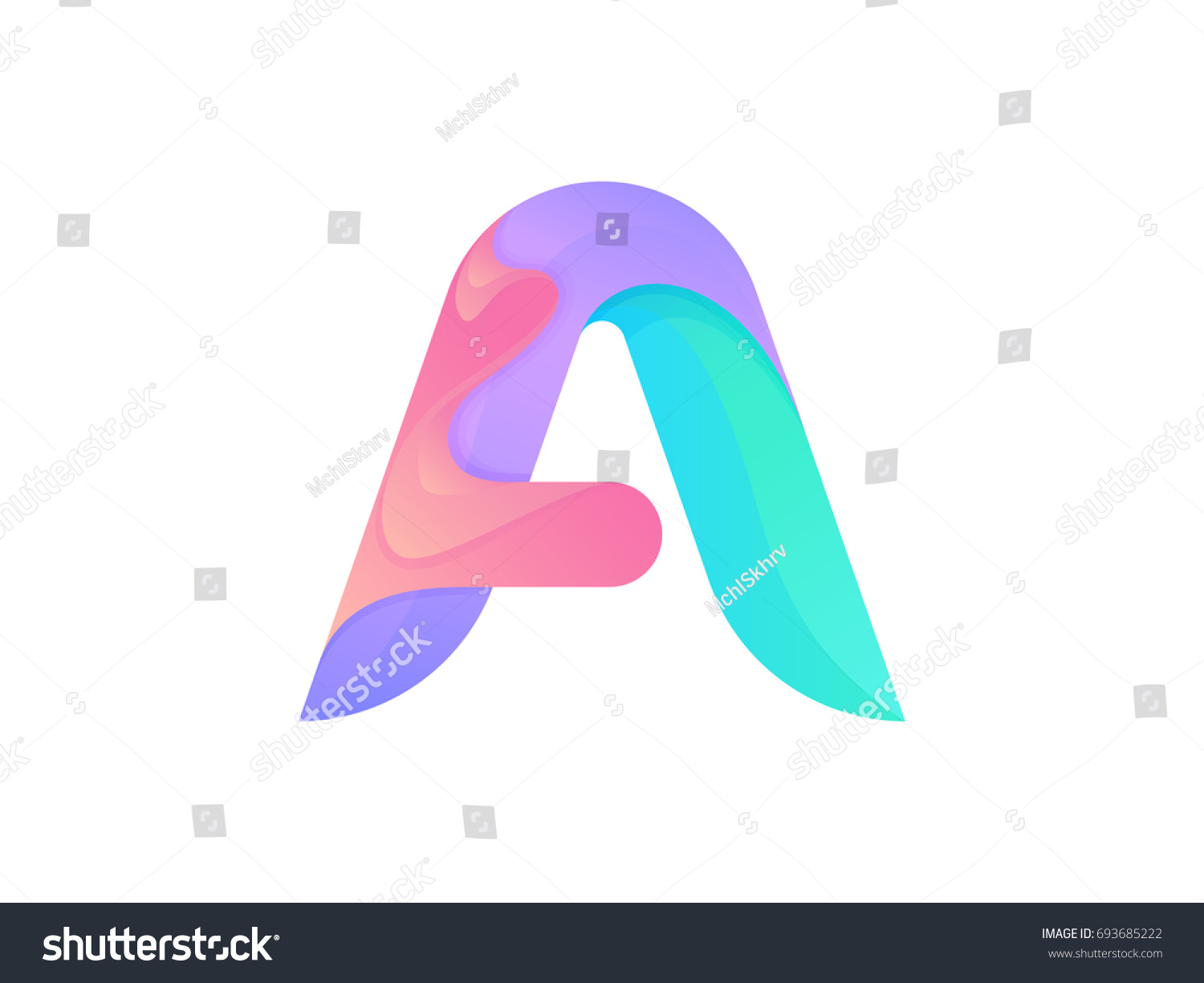 Creative Letter Logo Icon Design Abstract Stock Photo Photo Vector